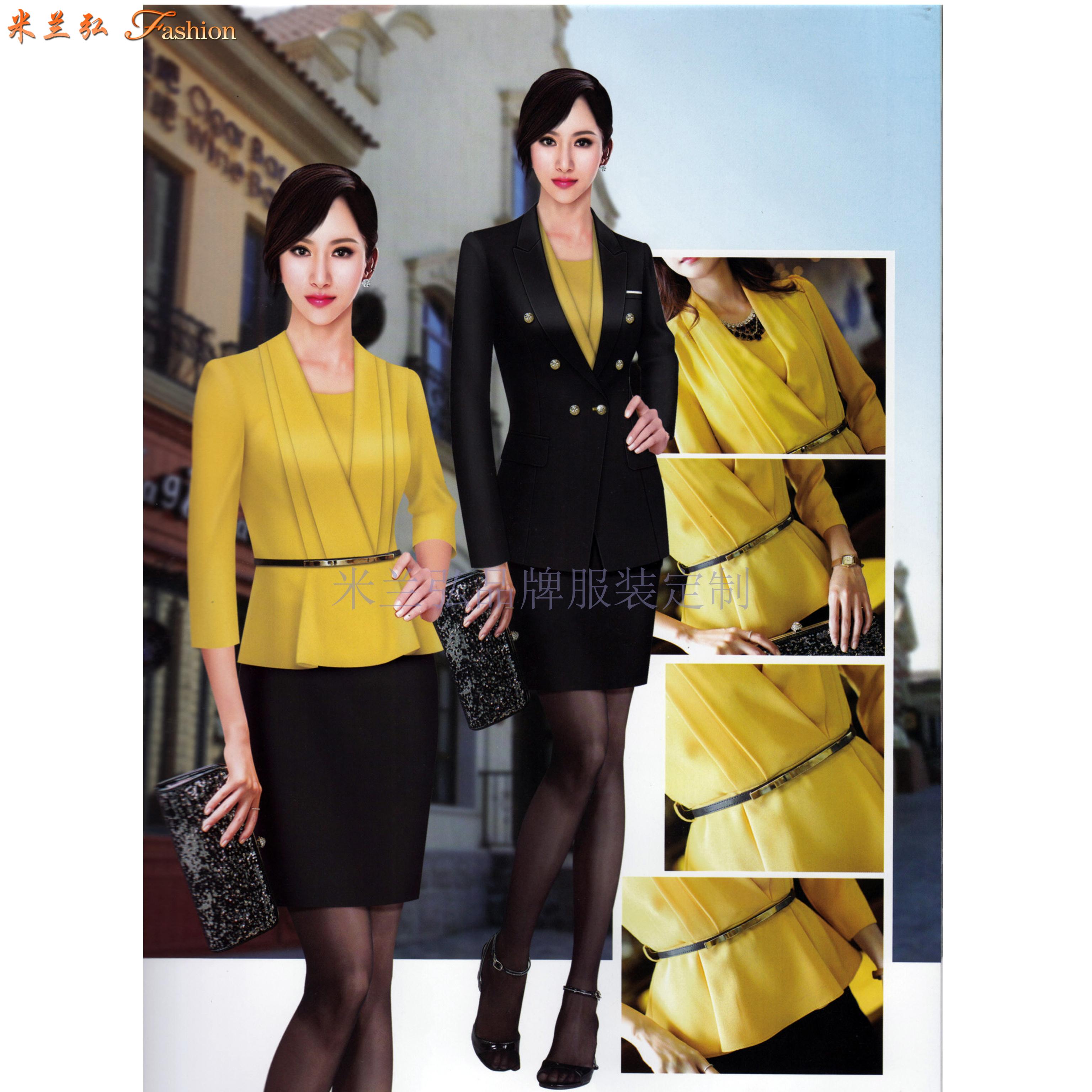 北京高端职业装定制品牌-米兰弘公司设计制作职业装新款女装图片-5