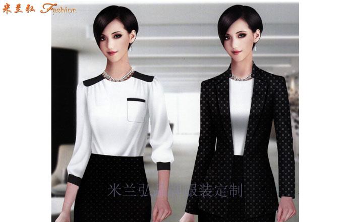 北京高端職業裝定制品牌-米蘭弘公司設計制作職業裝新款女裝圖片-1