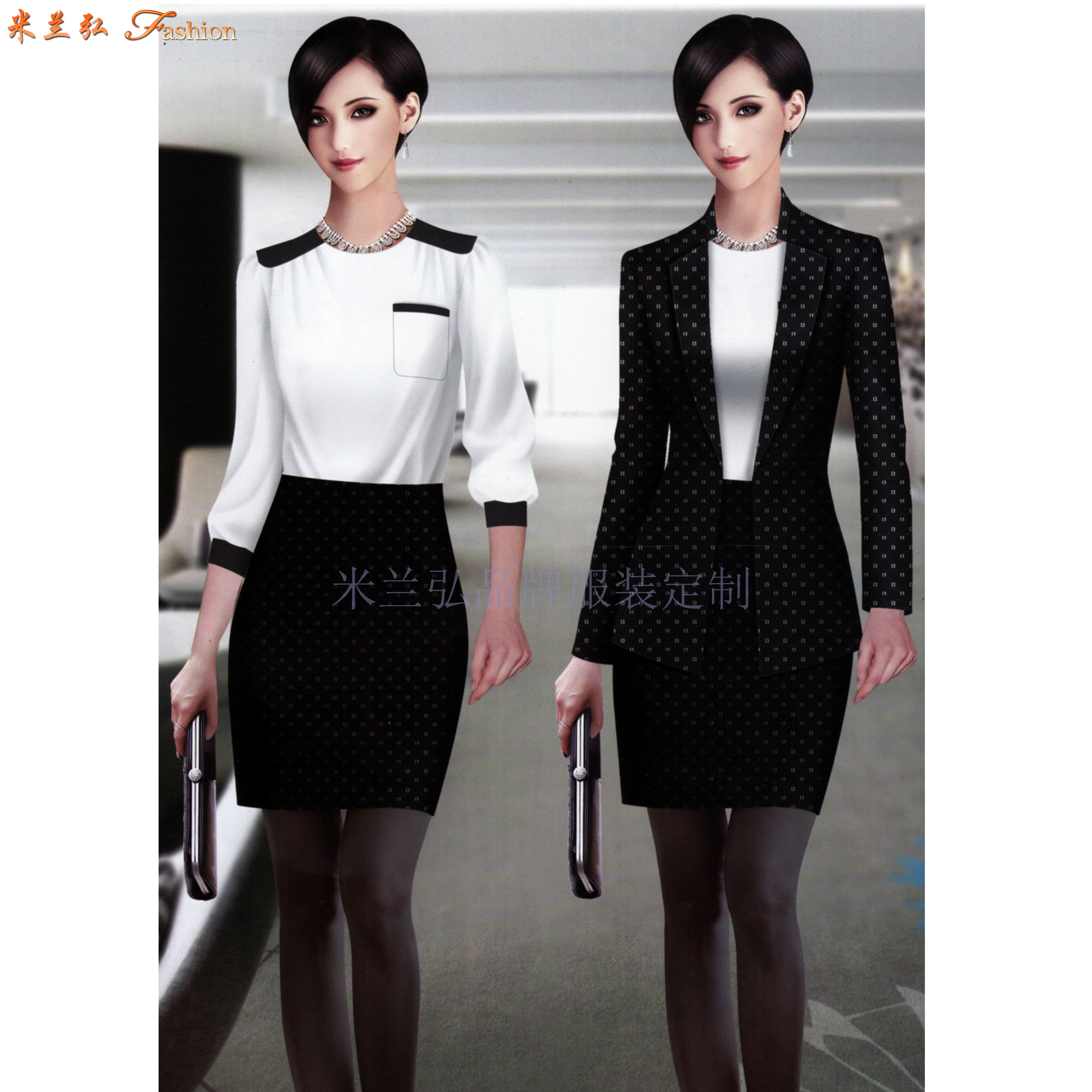 女職業裝套裝|美女搭配新款時尚職業小西服圖片-Top米蘭弘-2