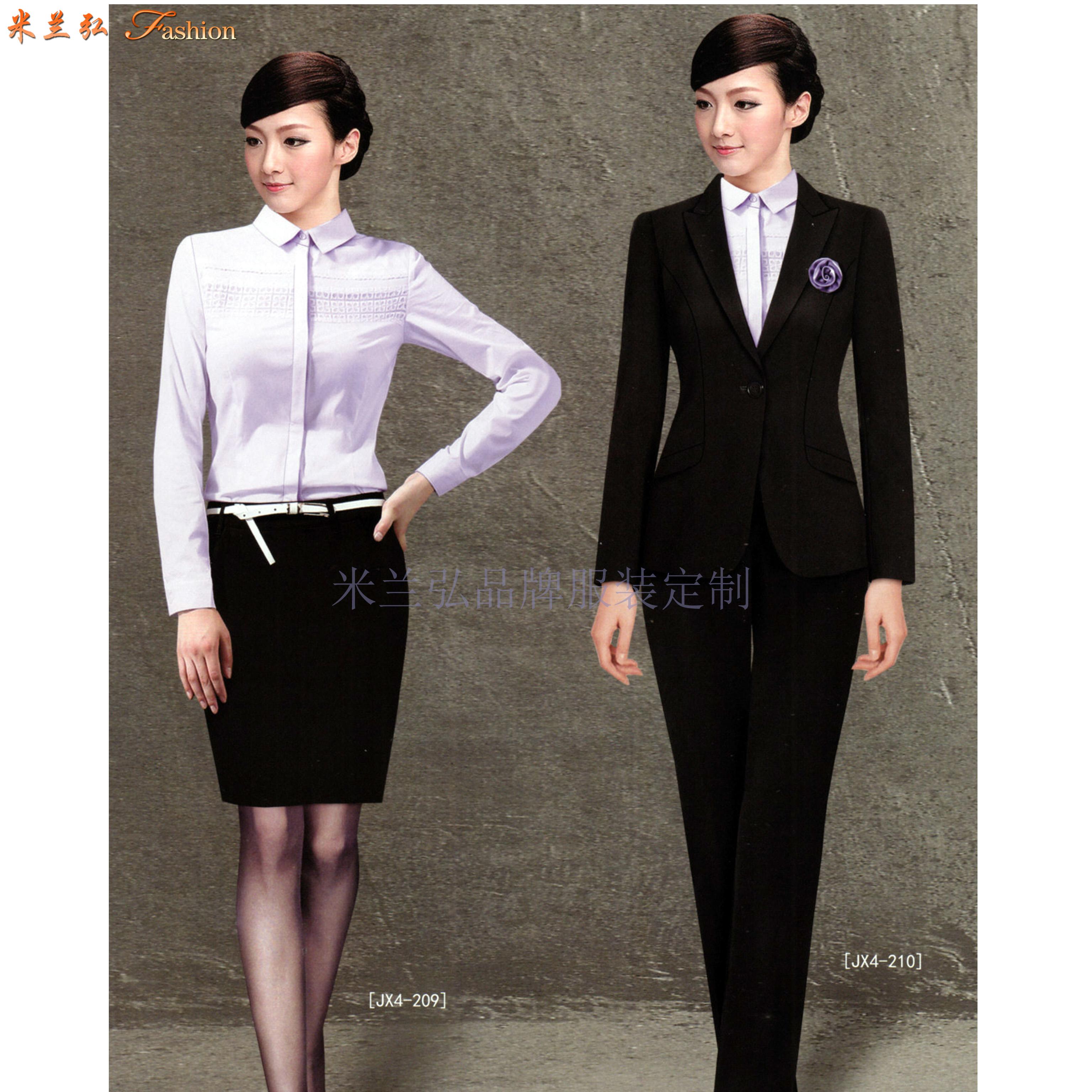 比較正式的商務西服一般選擇黑色或者藏藍色的羊毛面料-米蘭弘-6