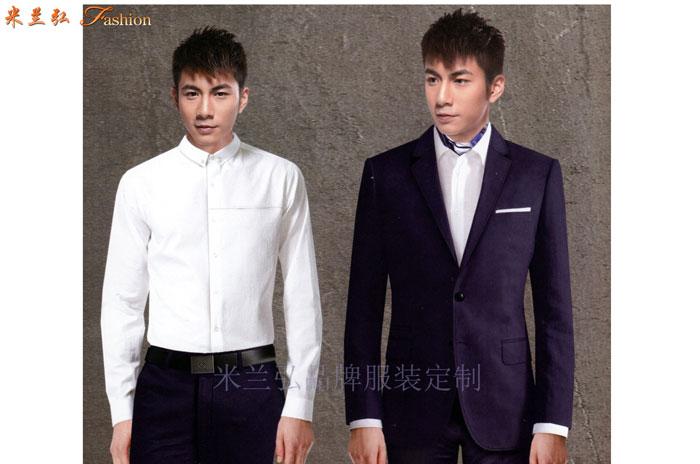 比較正式的商務西服一般選擇黑色或者藏藍色的羊毛面料-米蘭弘-1