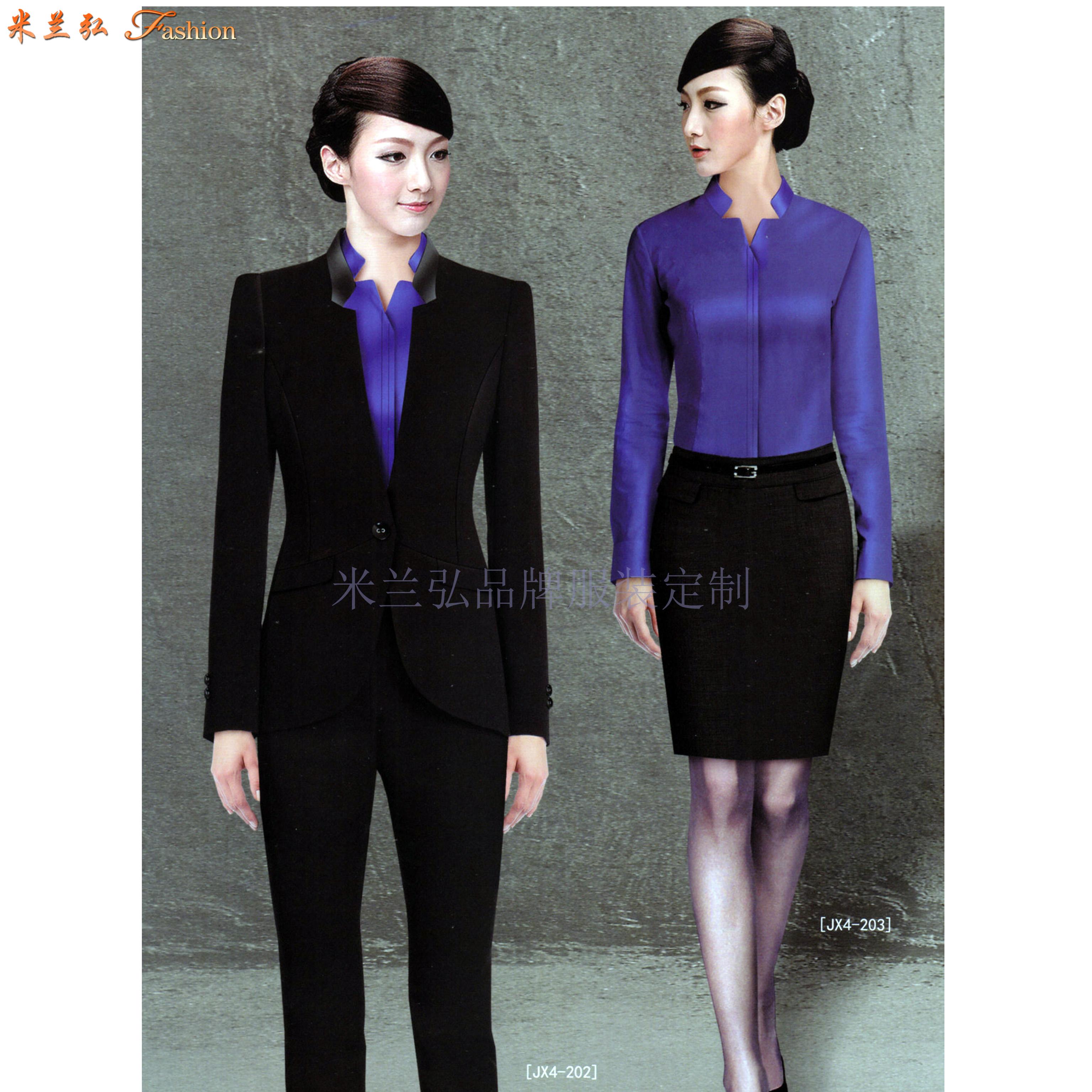 廊坊时尚职业装订做|秋冬新款女式两件套搭配毛涤哔叽职业西服-1
