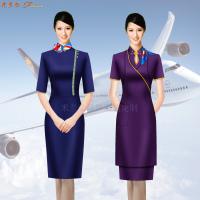空姐连衣裙制服图片|高铁乘务员中式立领连衣裙定做-蓝冠注册-2