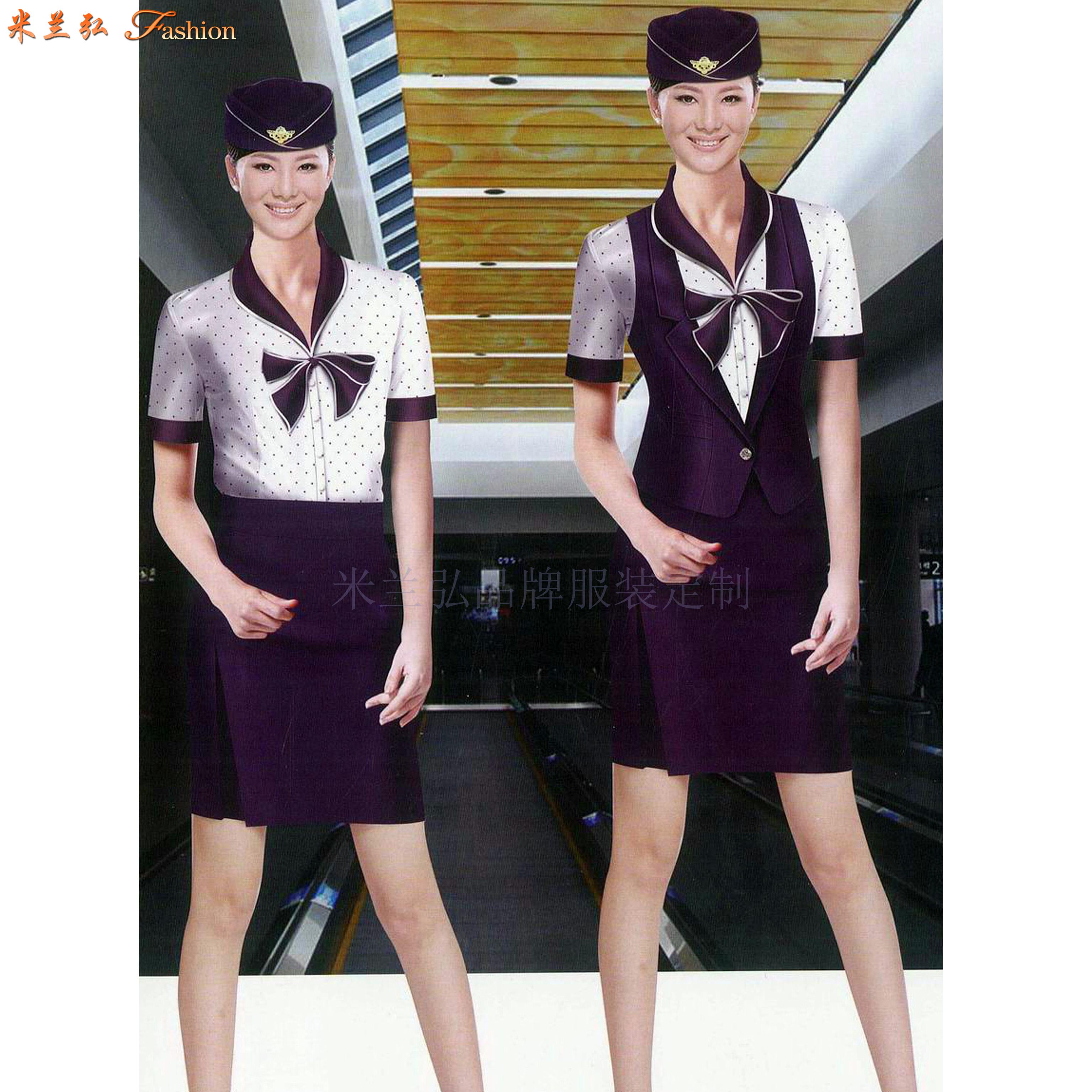 京津冀高鐵動車乘務制服定做-選擇款式時髦的服裝品牌-米蘭弘-4
