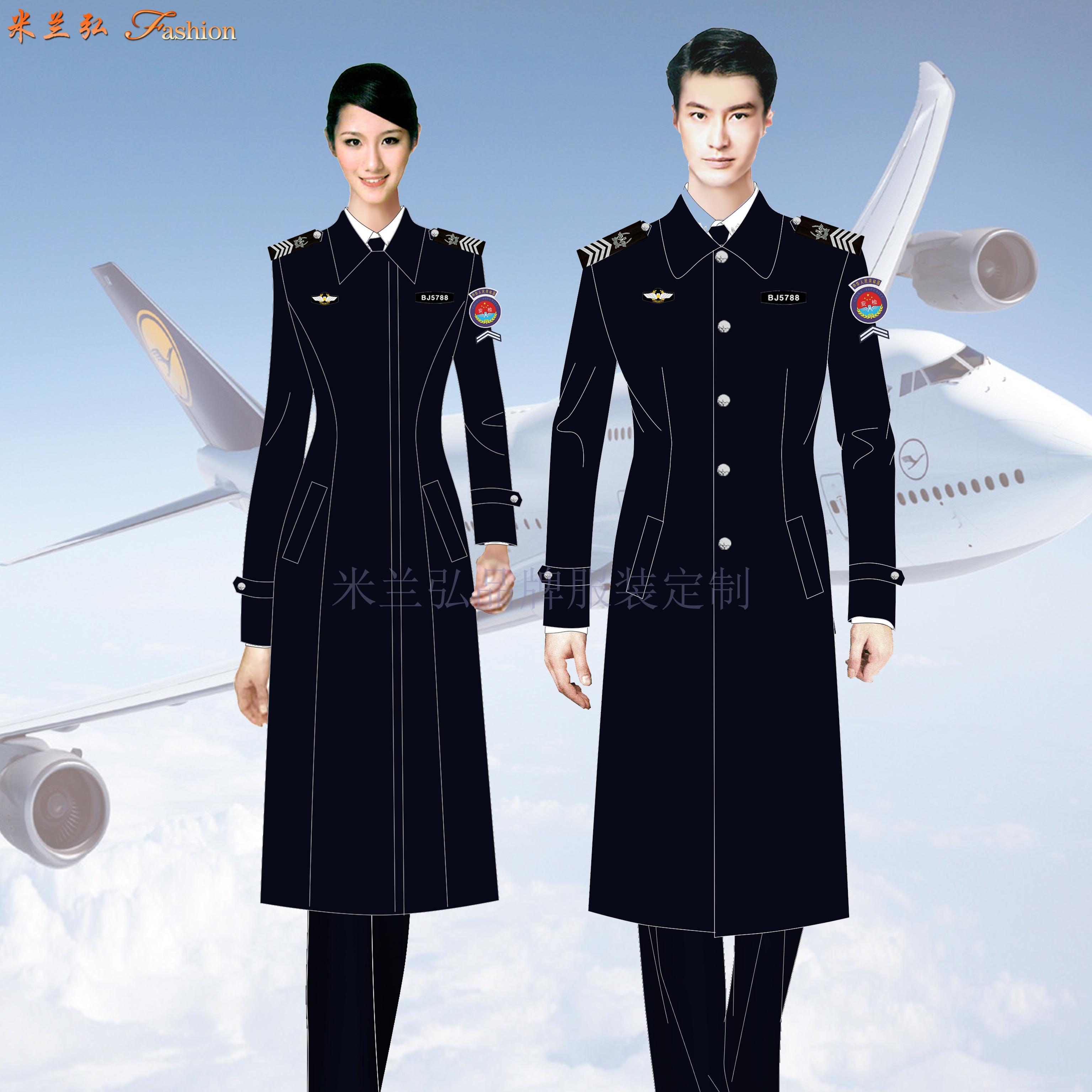 安检服羊毛大衣定做_机场安检员大衣订制_民航安检棉服定制-3