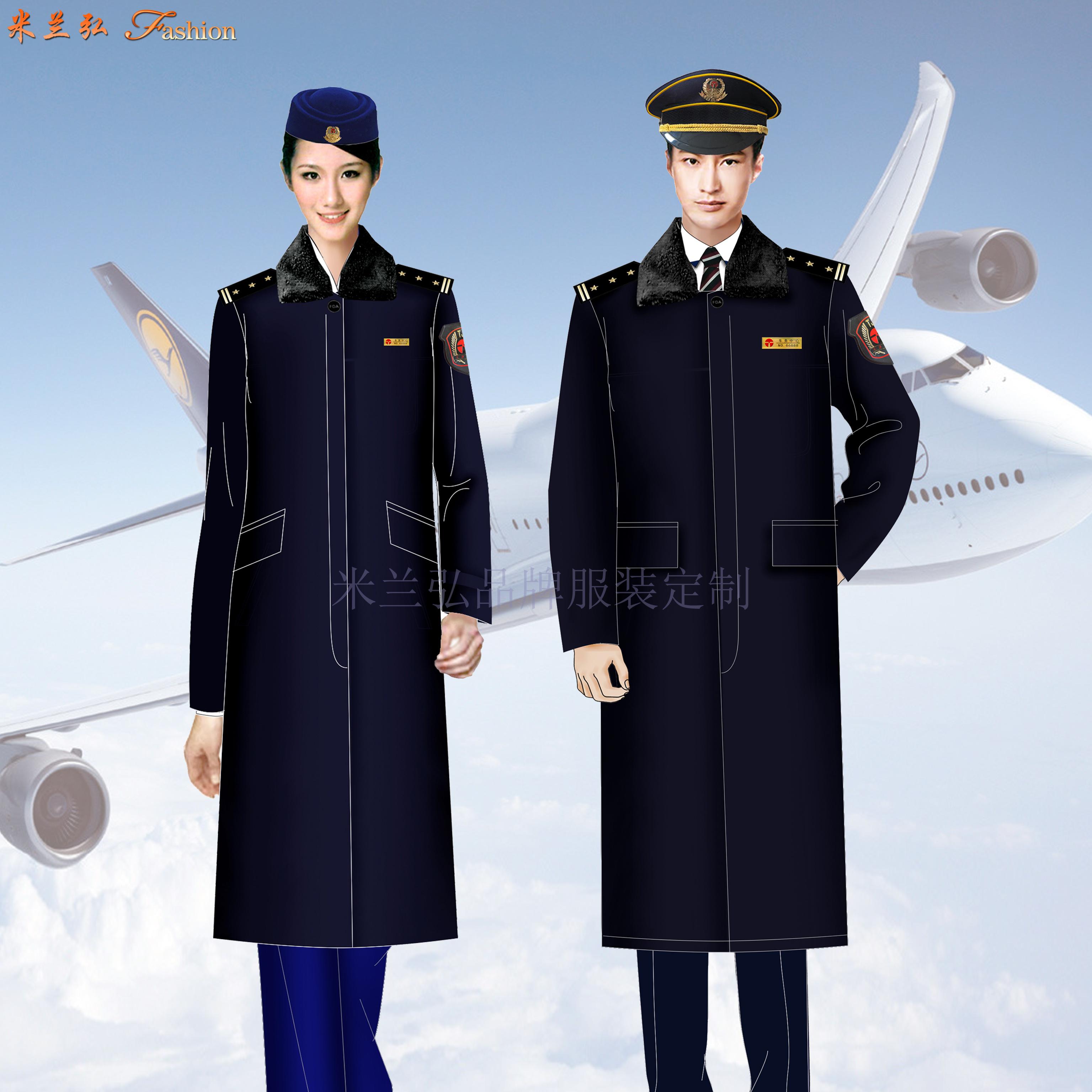 安檢服羊毛大衣定做_機場安檢員大衣訂製_民航安檢棉服定製-5