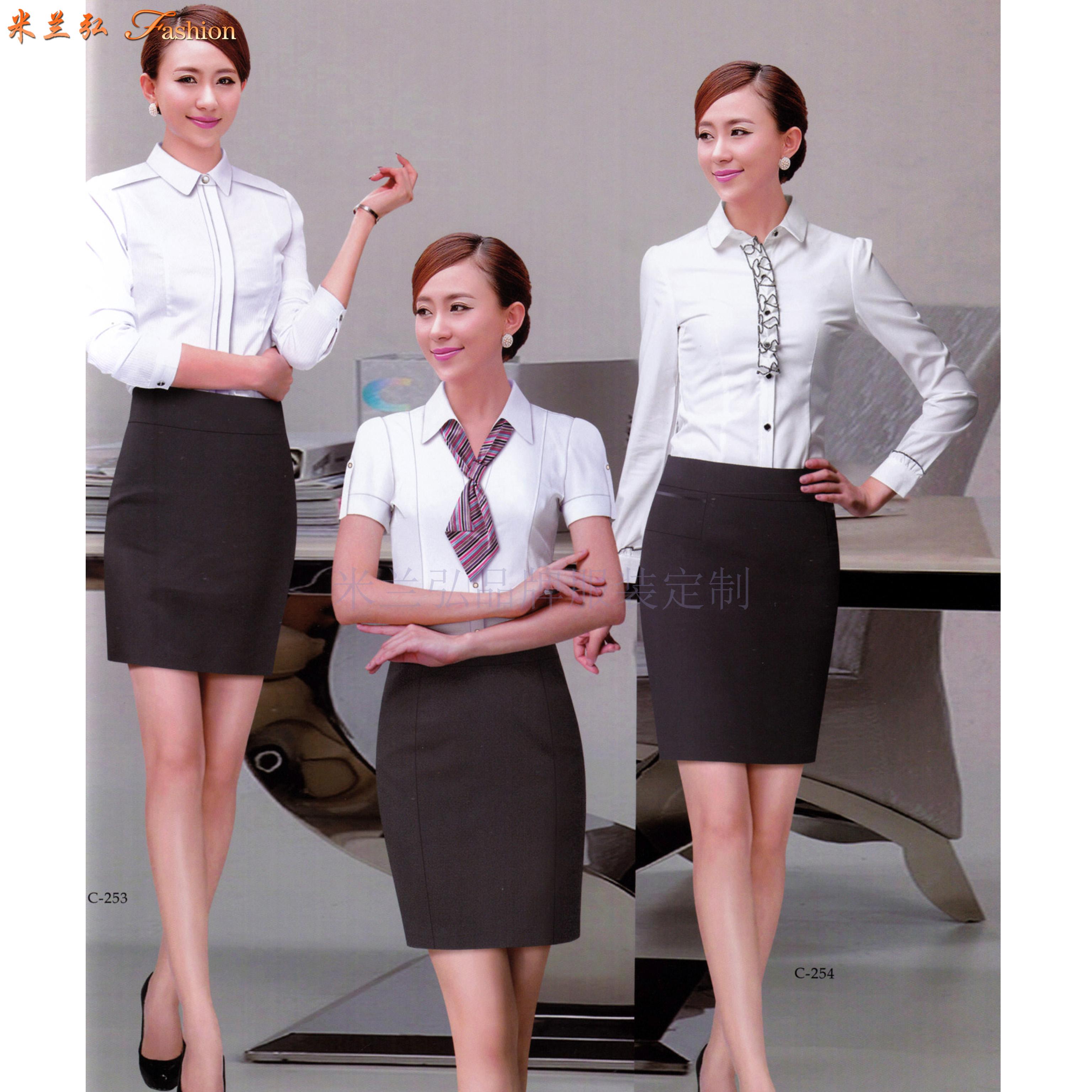 「法式襯衫」定制企業高管純棉免燙法式襯衫、白色防靜電襯衫-1