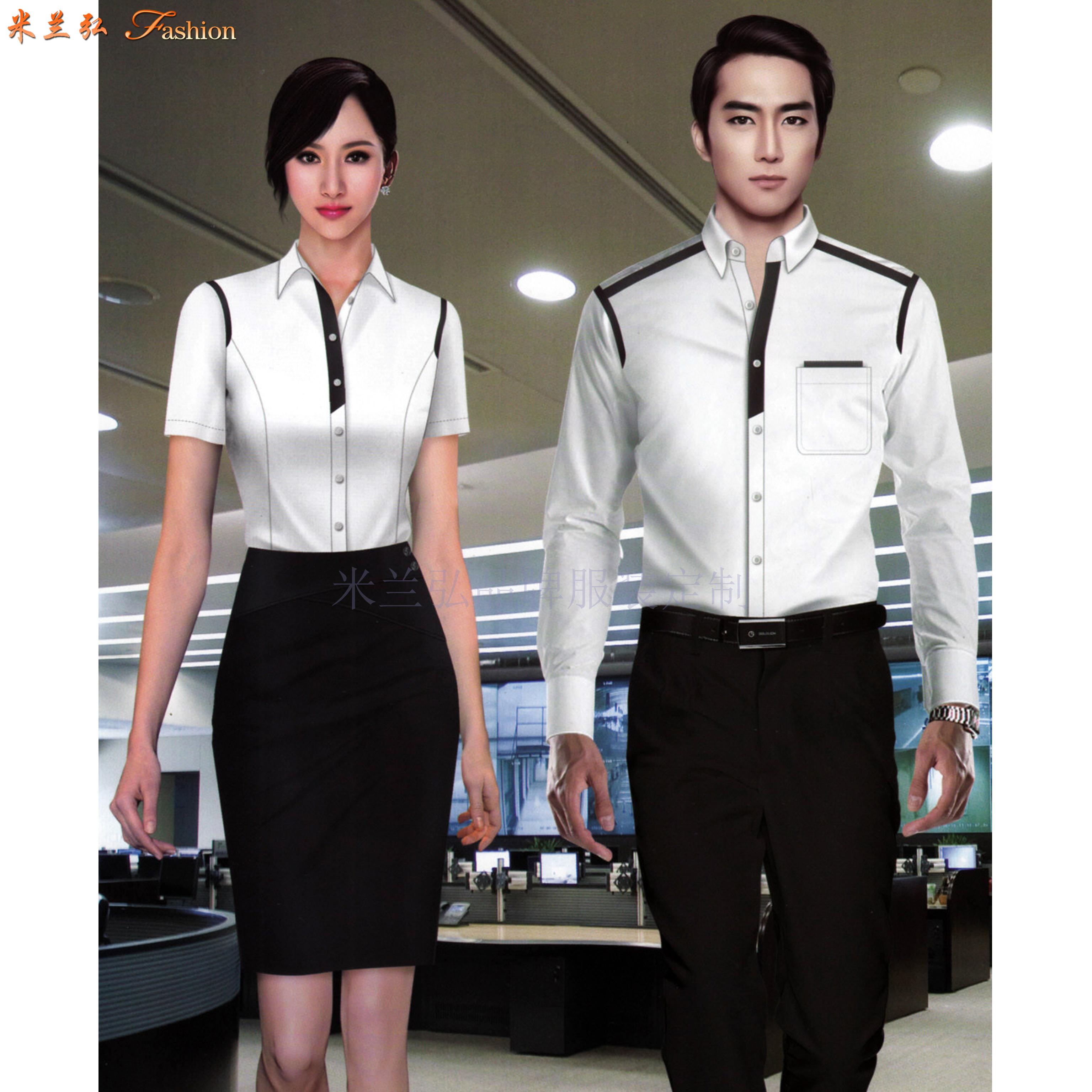 「法式襯衫」定制企業高管純棉免燙法式襯衫、白色防靜電襯衫-5