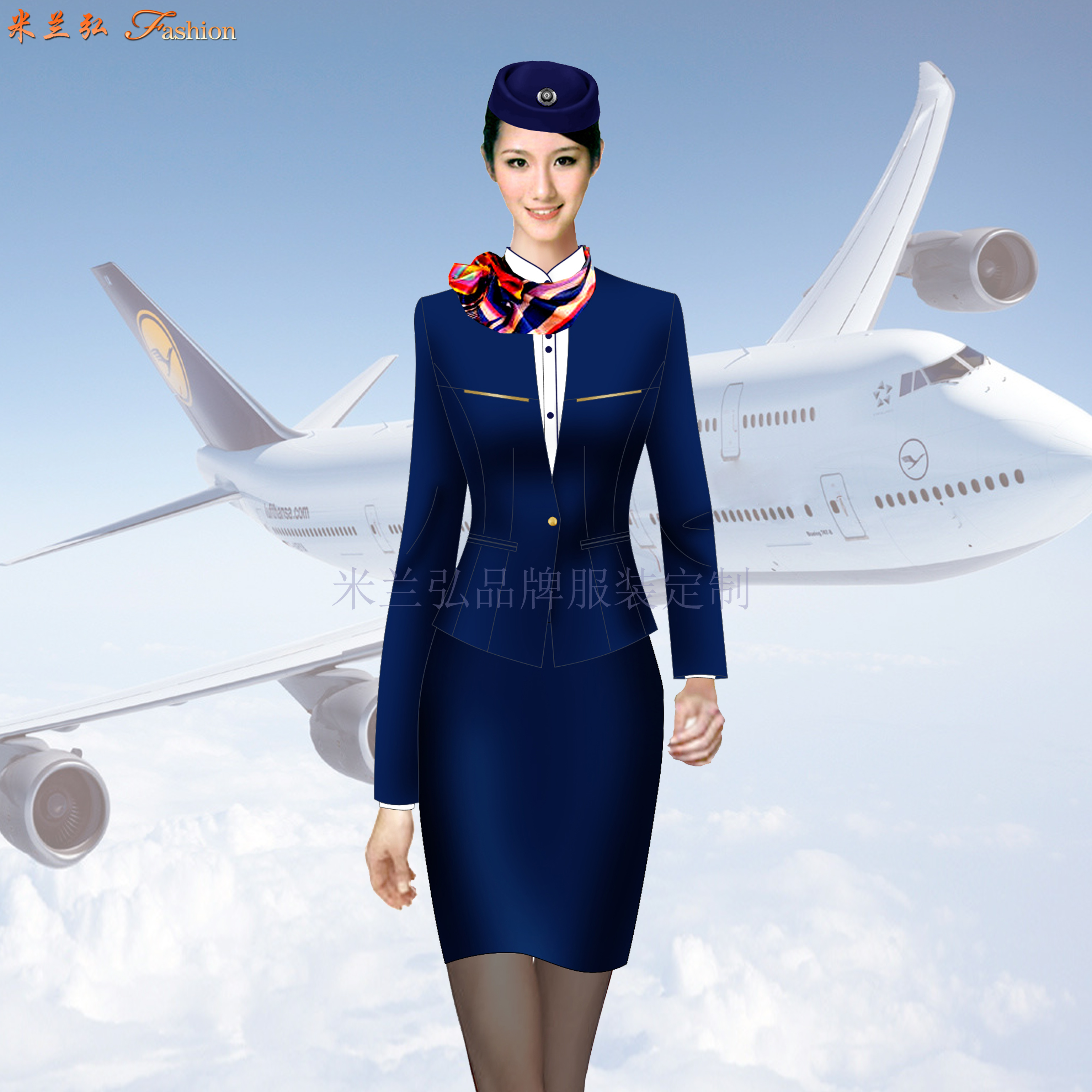 高等院校空乘服定制_高职学校空姐服定做_成人学校空姐服订做👍-2