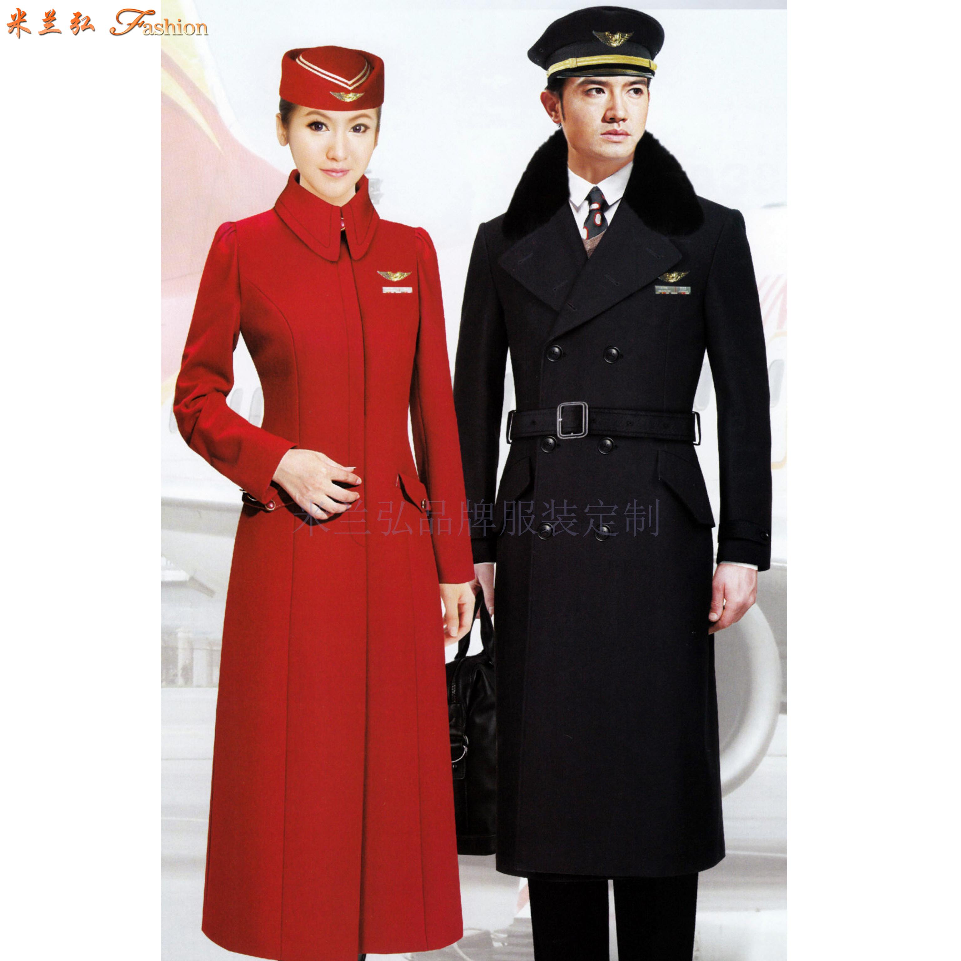 航空公司机长大衣定做_空姐服大衣定制_飞机空乘服大衣订制-3