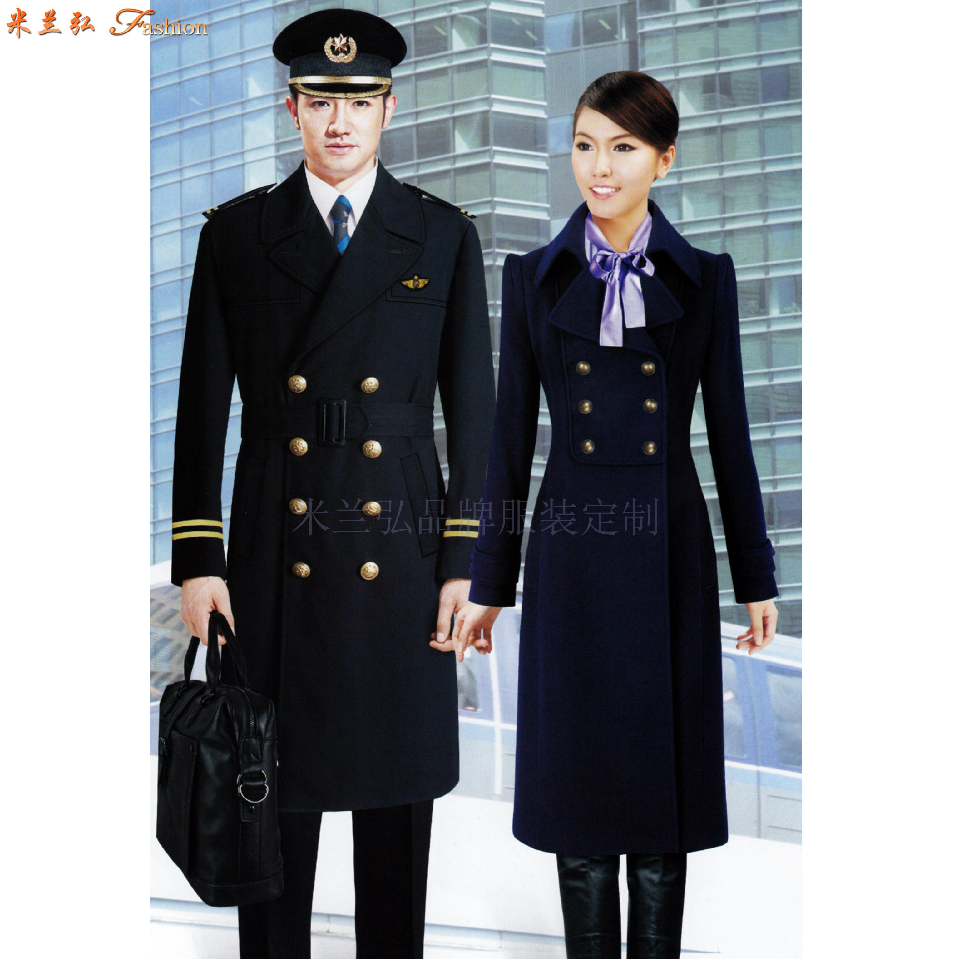 航空公司机长大衣定做_空姐服大衣定制_飞机空乘服大衣订制-4