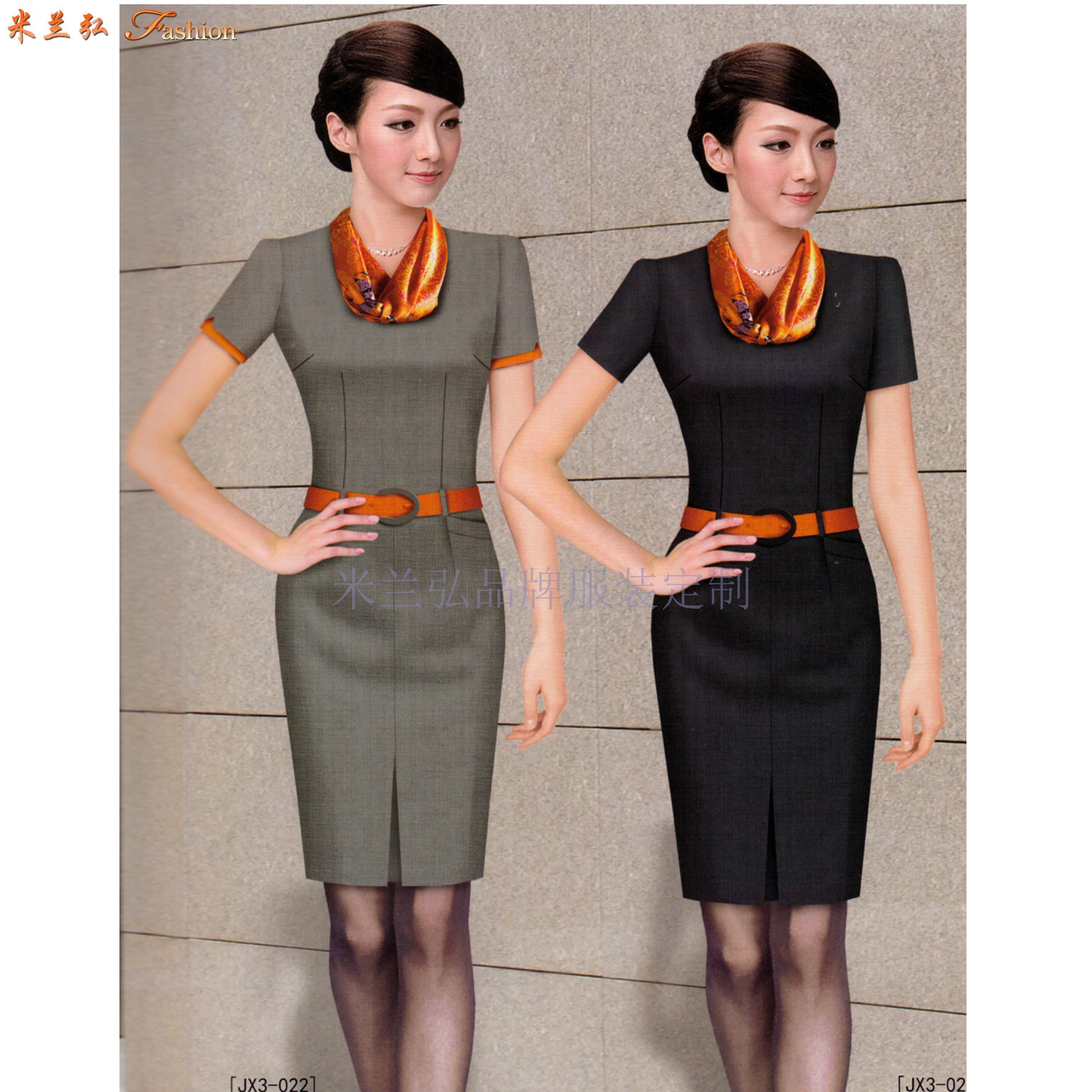 2020夏季女士職業裝搭配_上班職業裝連衣裙定做_米蘭弘服裝-2