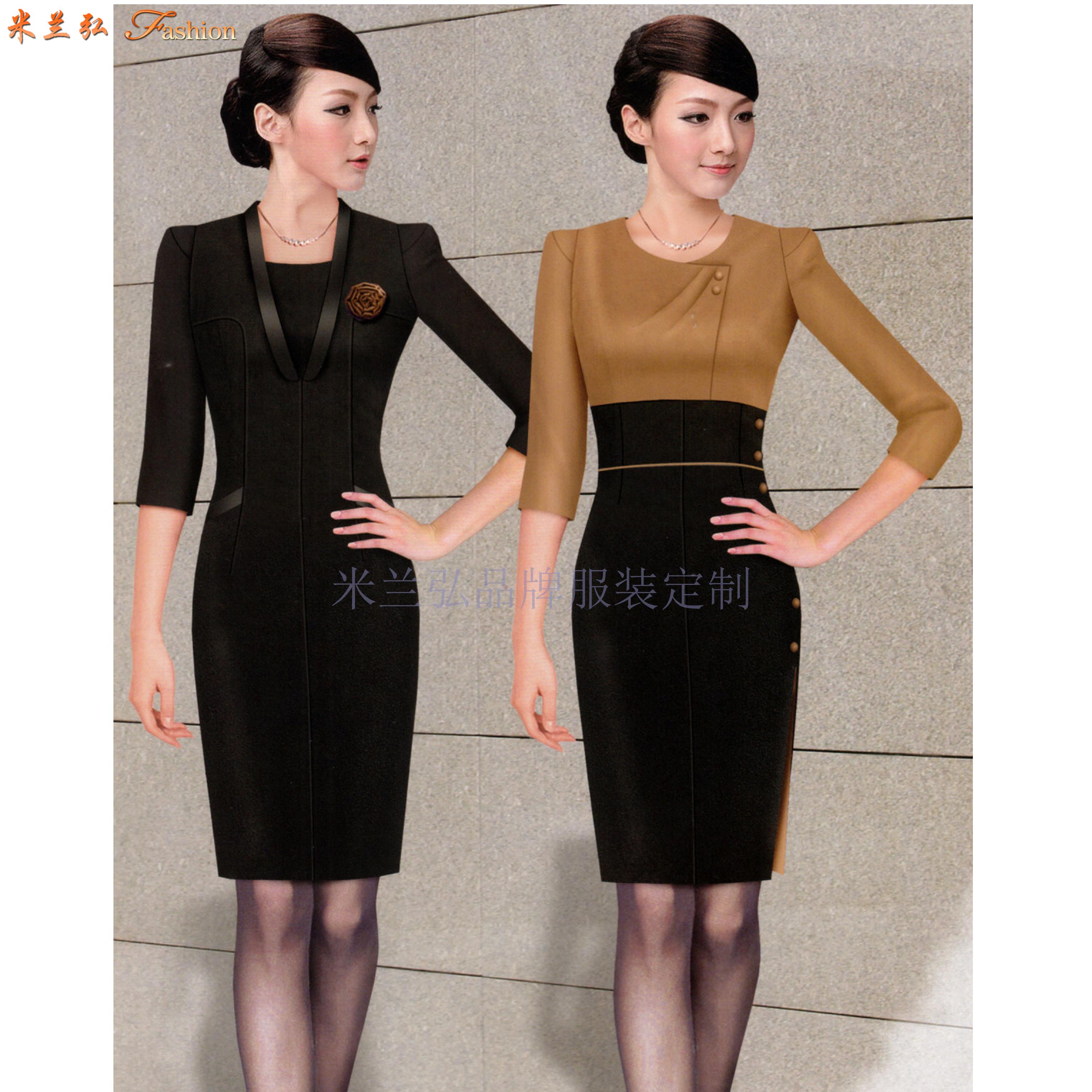2020夏季女士職業裝搭配_上班職業裝連衣裙定做_米蘭弘服裝-5