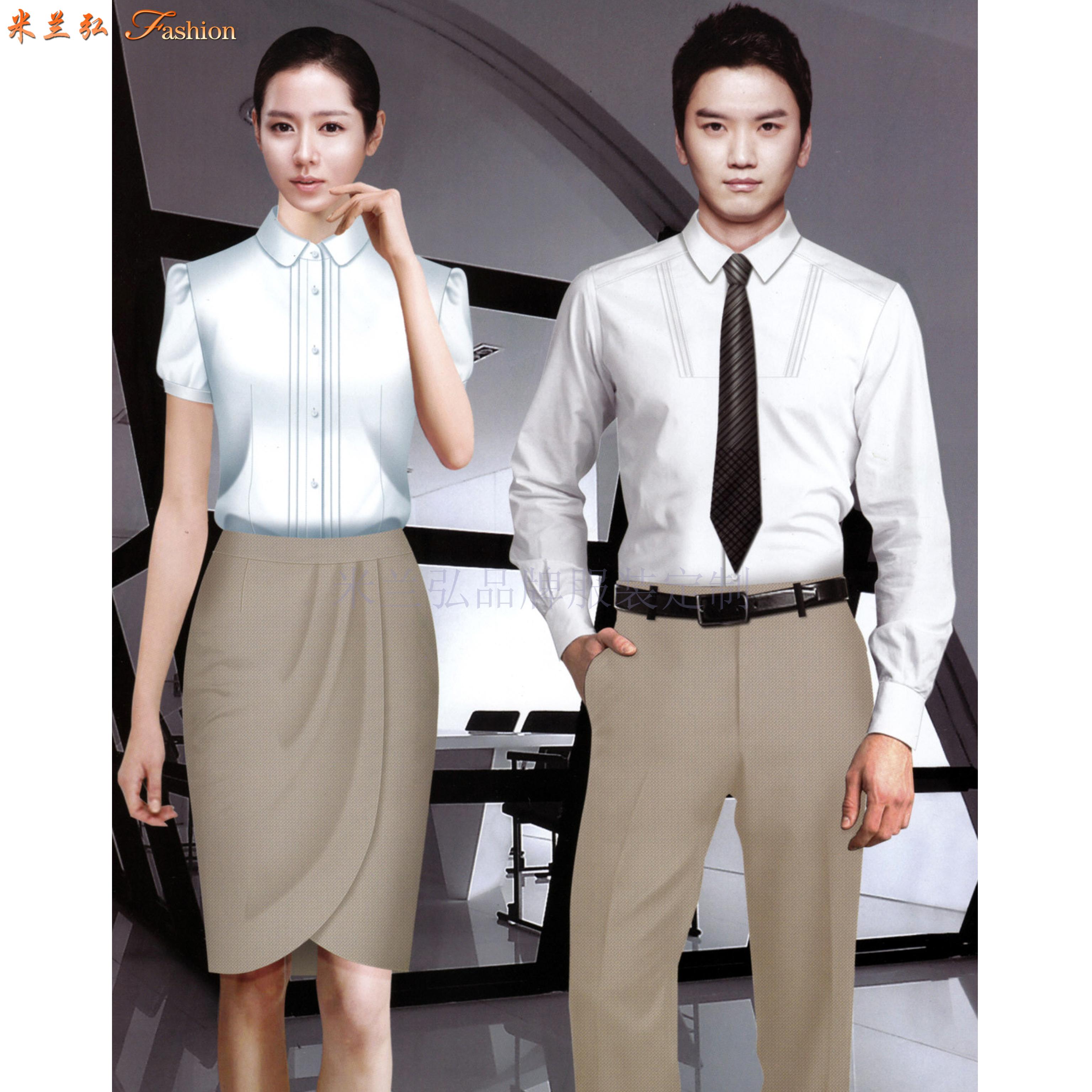 「男式衬衫订制」「女士衬衫定做」工作服衬衫定制工厂-米兰弘-3