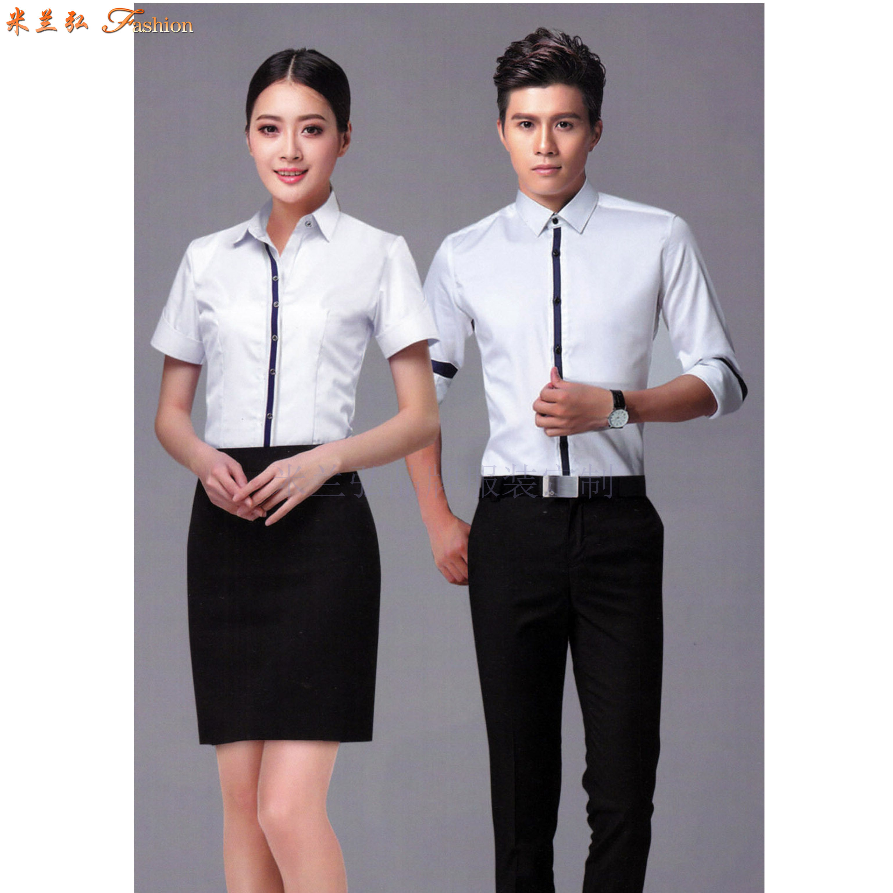 「男式衬衫订制」「女士衬衫定做」工作服衬衫定制工厂-米兰弘-5