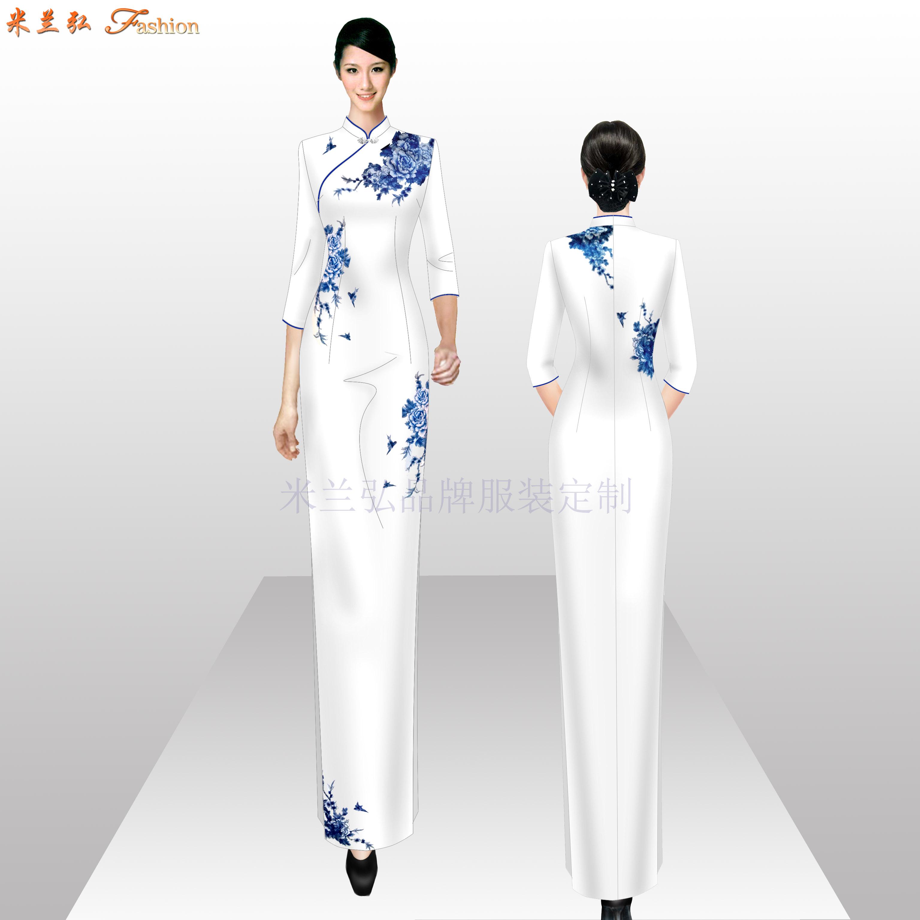 「真丝旗袍定制」「真丝旗袍订做」-米兰弘品牌服装-1