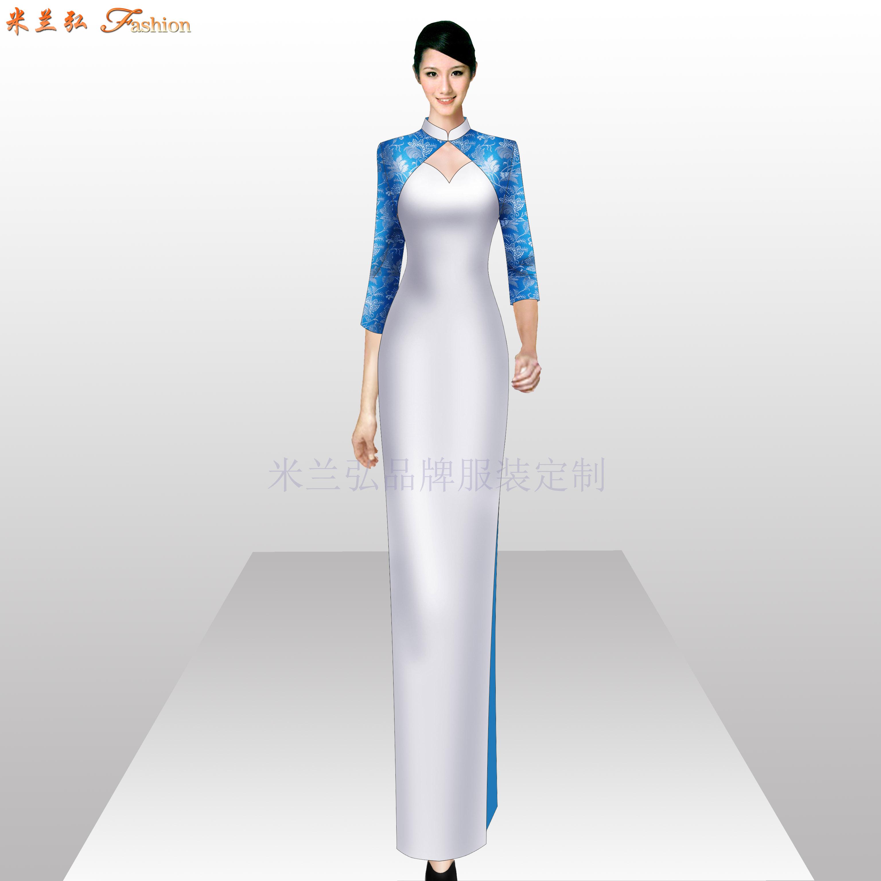 「真絲旗袍定制」「真絲旗袍訂做」-米蘭弘品牌服裝-3