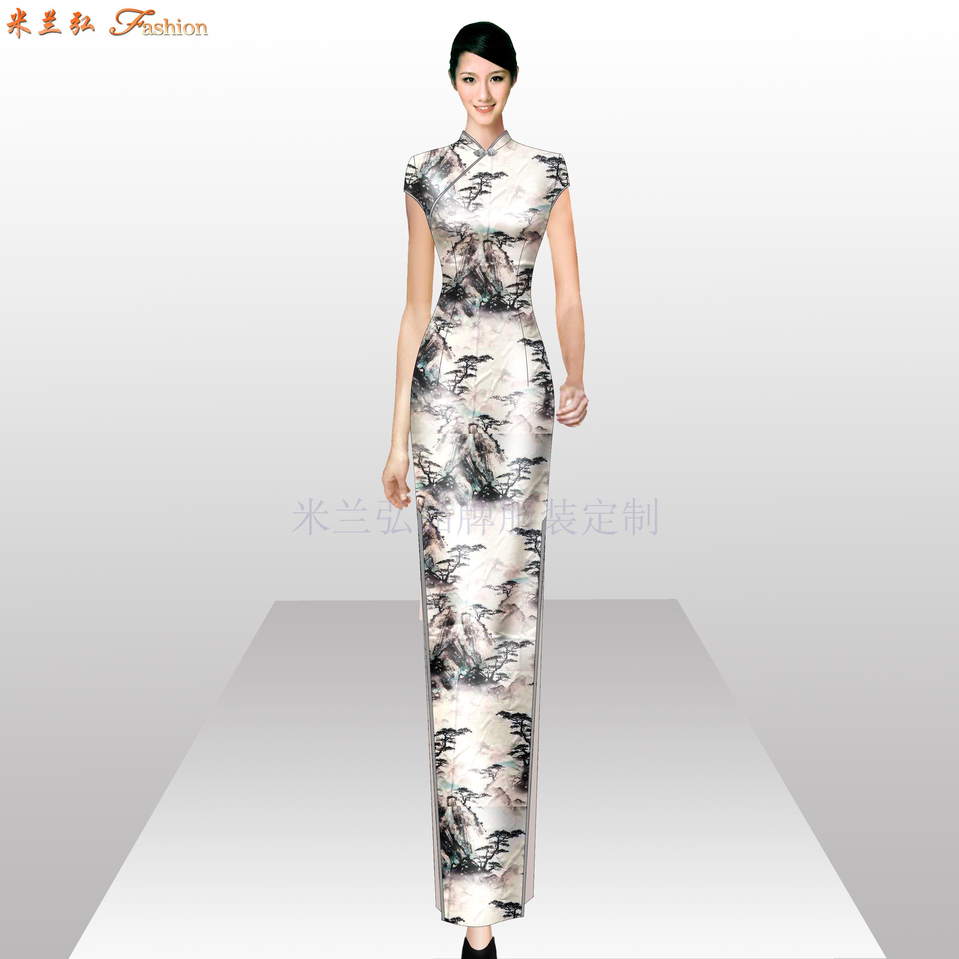 「旗袍高端定制」「旗袍高级订制」-米兰弘品牌服装-1