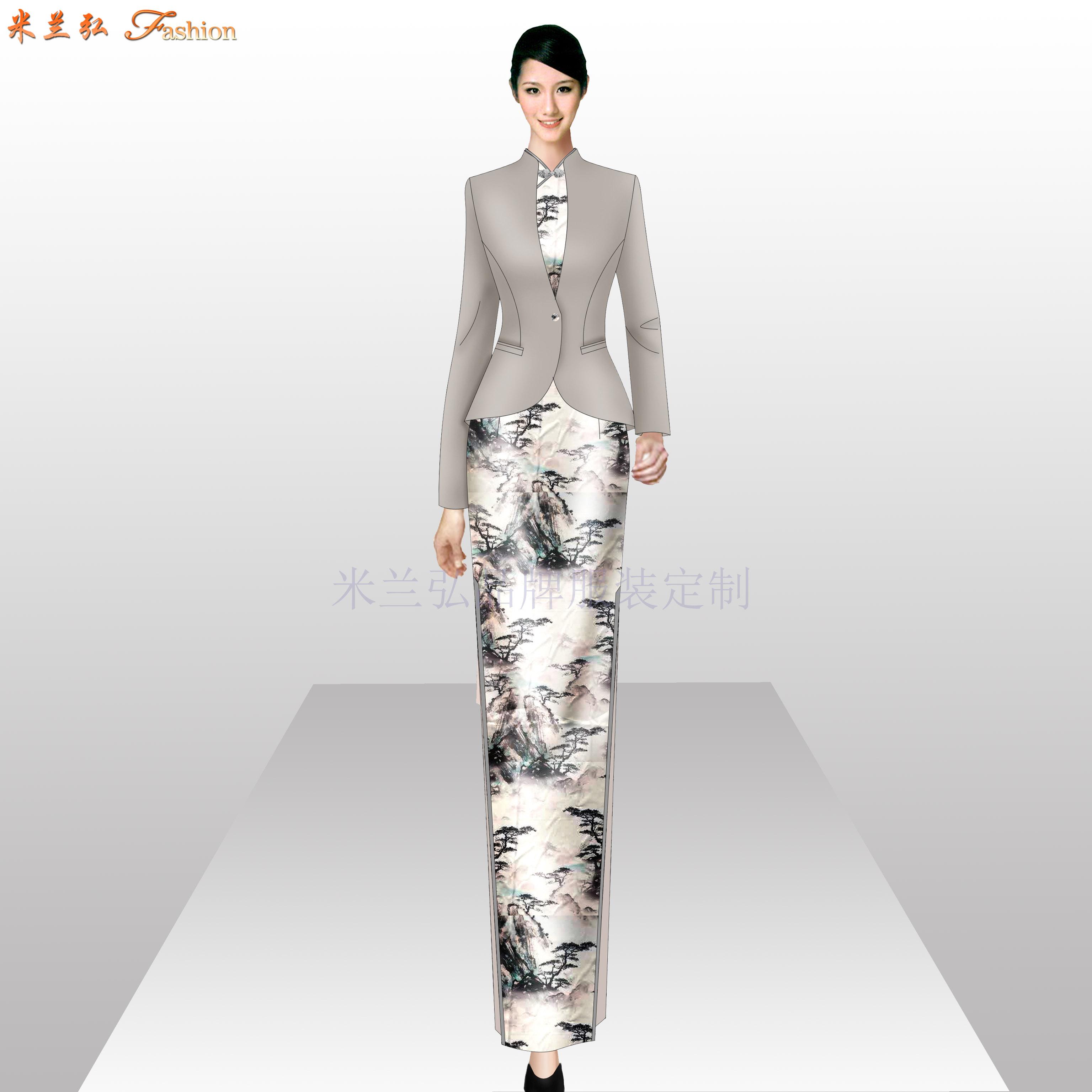 「旗袍高端定制」「旗袍高级订制」-米兰弘品牌服装-2