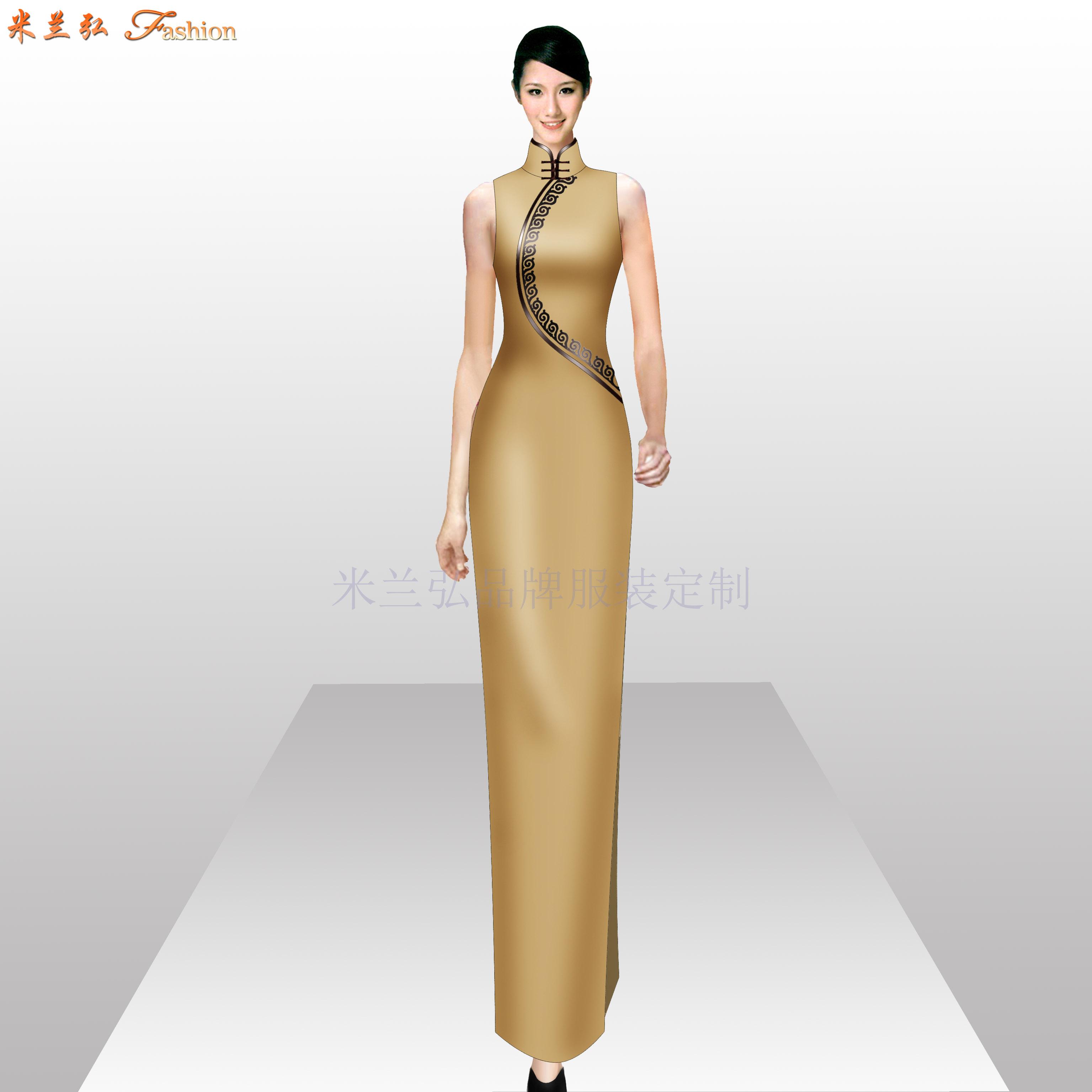 「旗袍高端定制」「旗袍高级订制」-米兰弘品牌服装-4