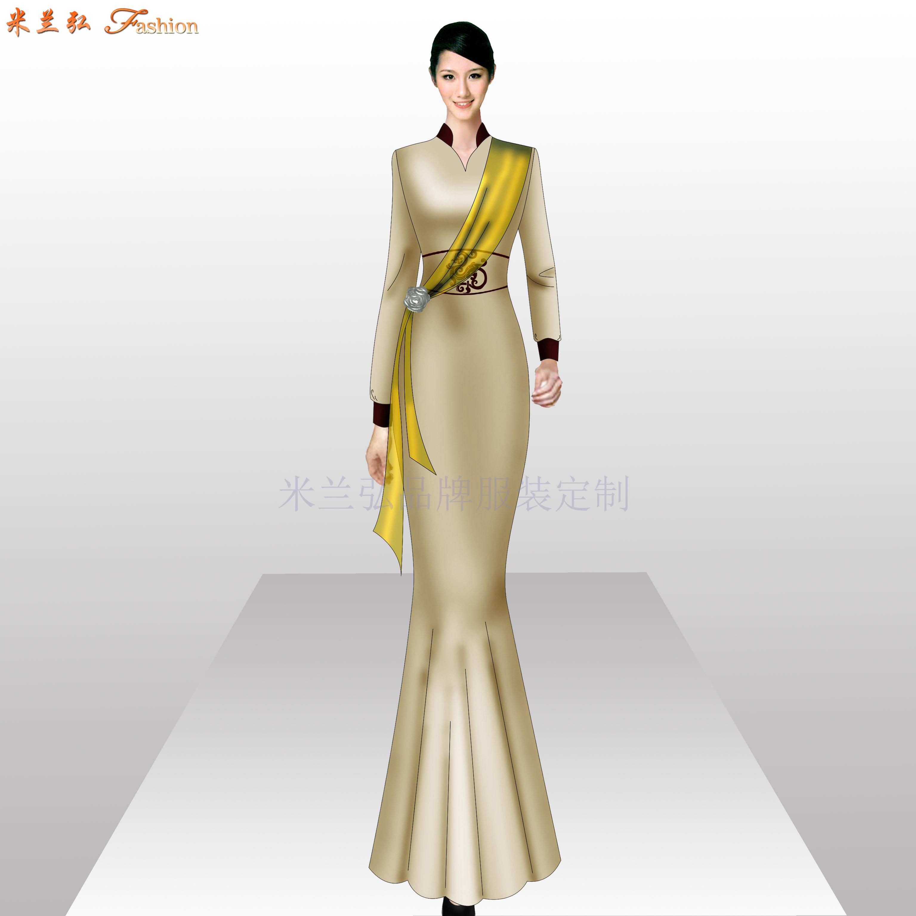 「旗袍高端定制」「旗袍高级订制」-米兰弘品牌服装-5