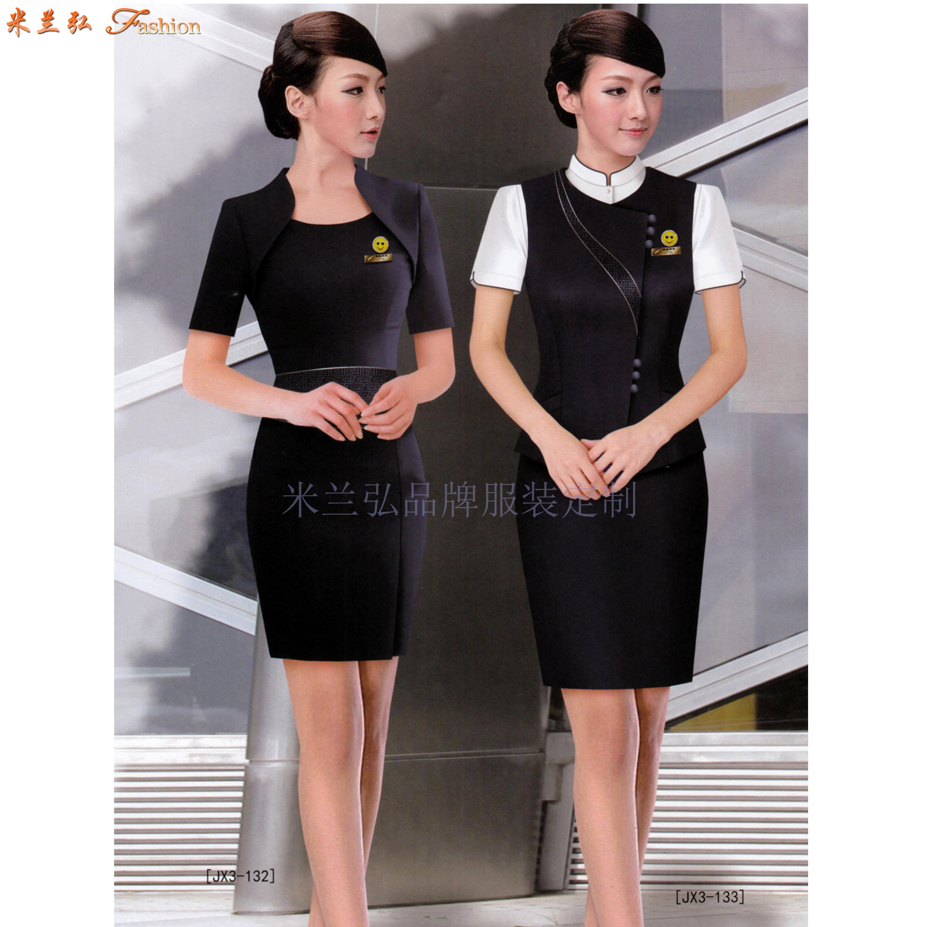 「濟南空姐服定制」「濟南空乘服訂做」推薦式樣時髦米蘭弘服裝-5