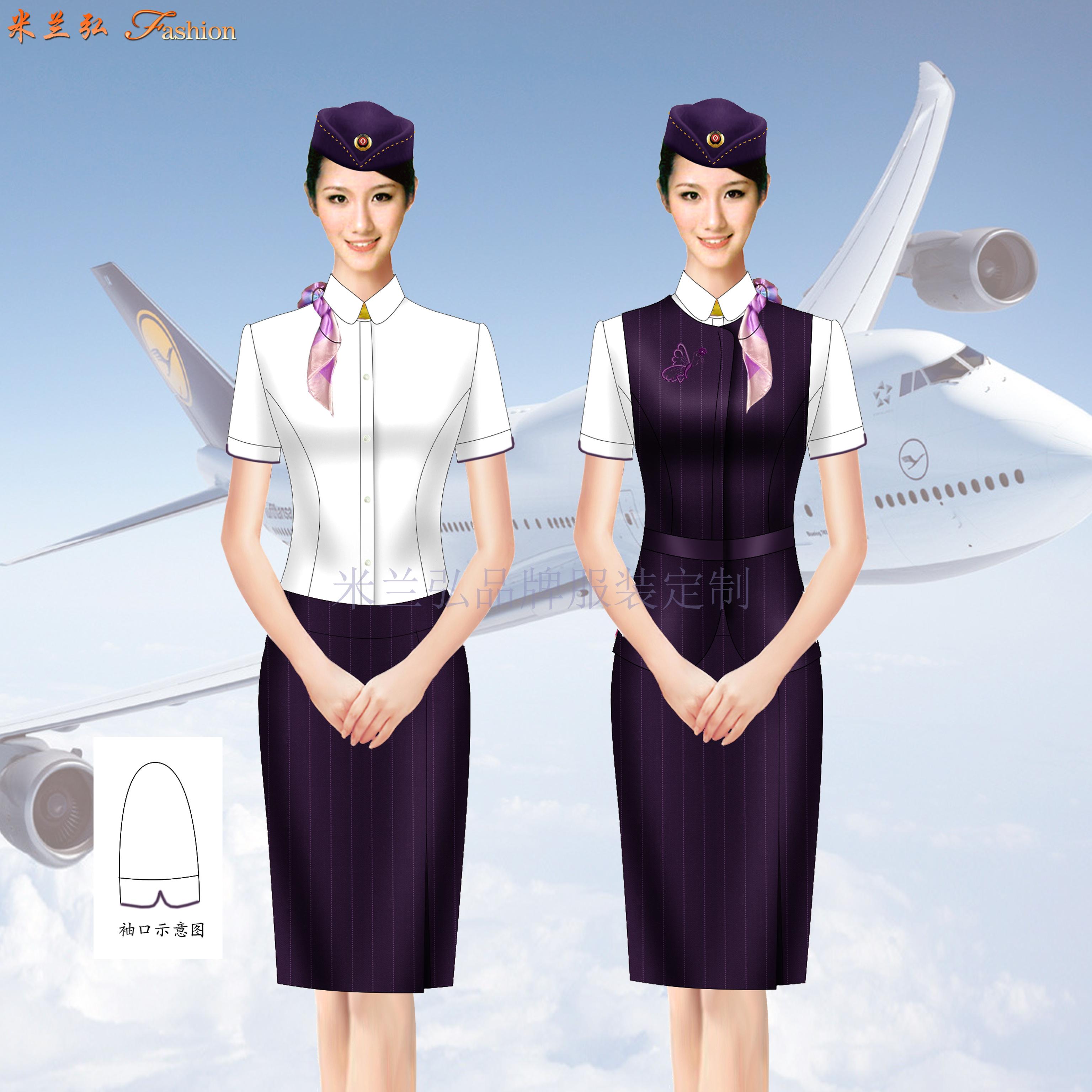 「空姐服」北京量體定制訂做潮流空姐服的誠信公司-米蘭弘服裝-2