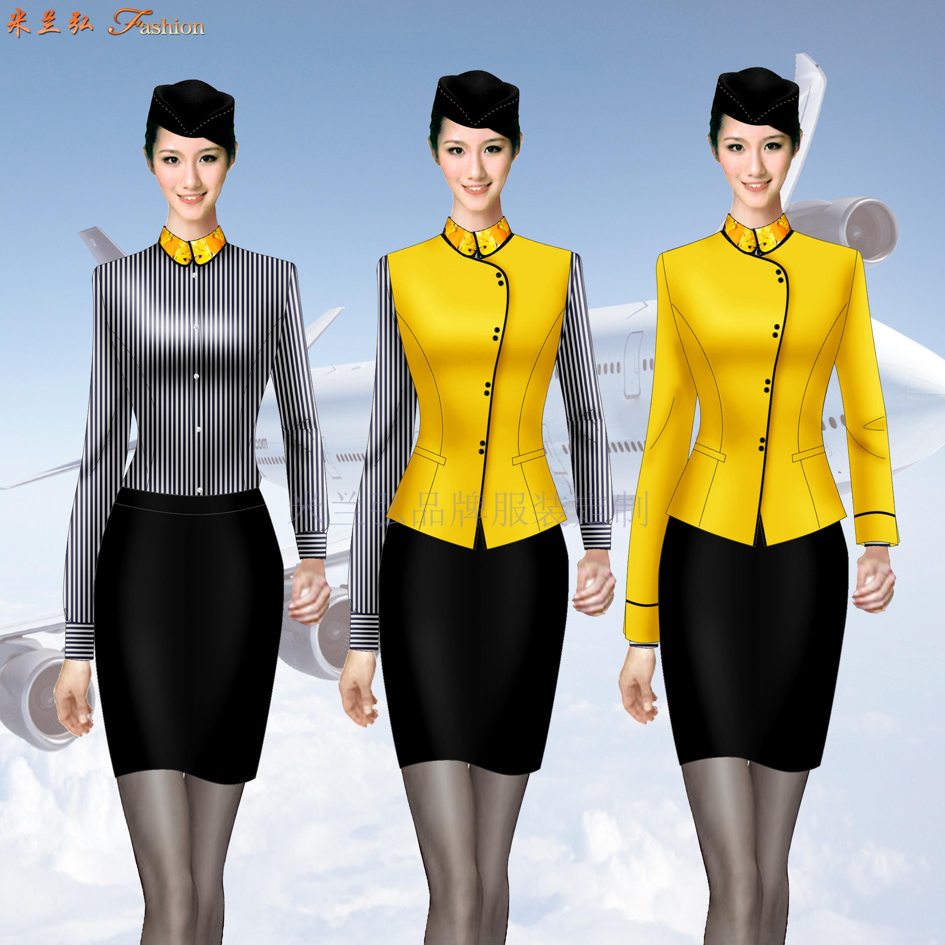 「空姐服」銀川量體定做航空公司空姐服-米蘭弘服裝-1