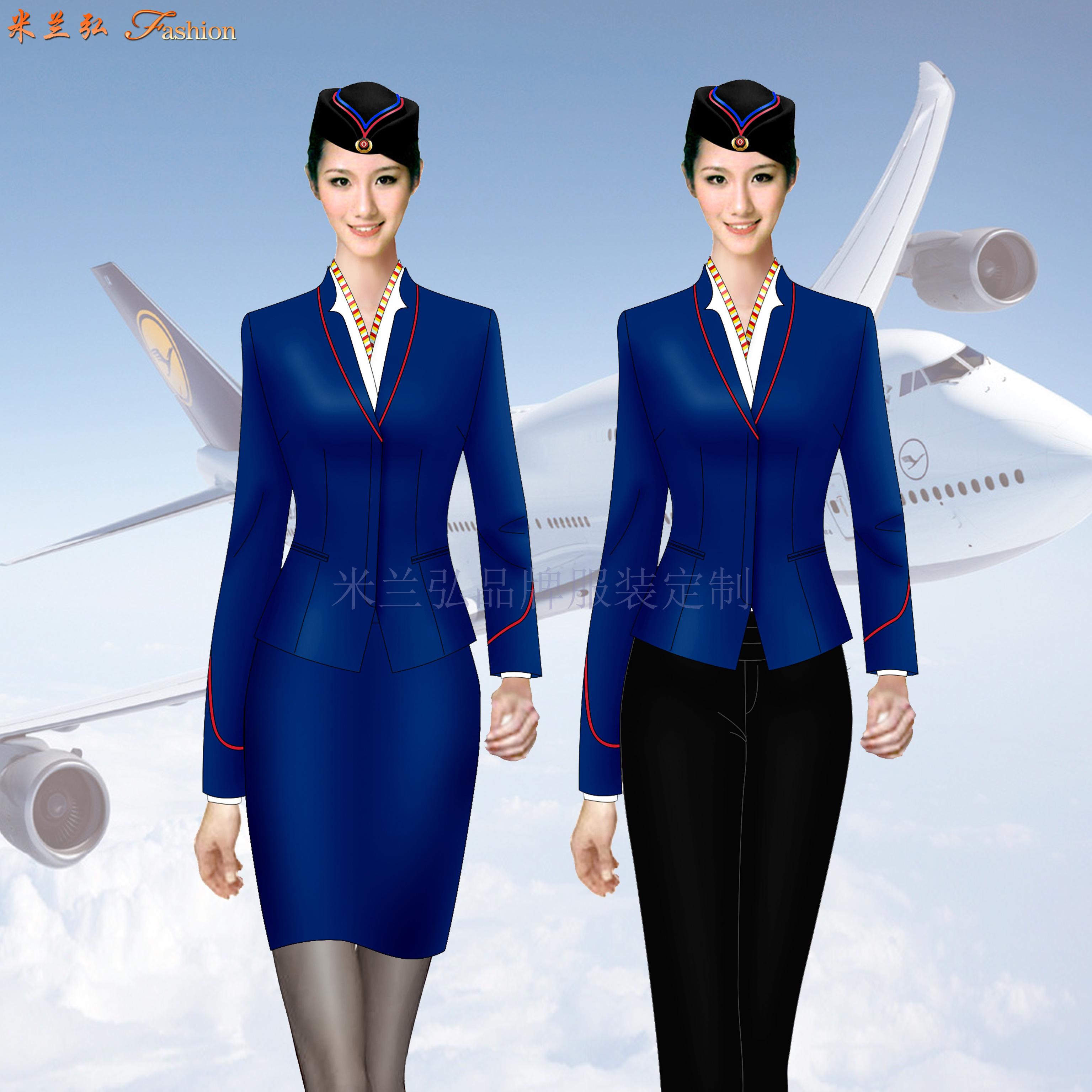 「空姐服」銀川量體定做航空公司空姐服-米蘭弘服裝-2