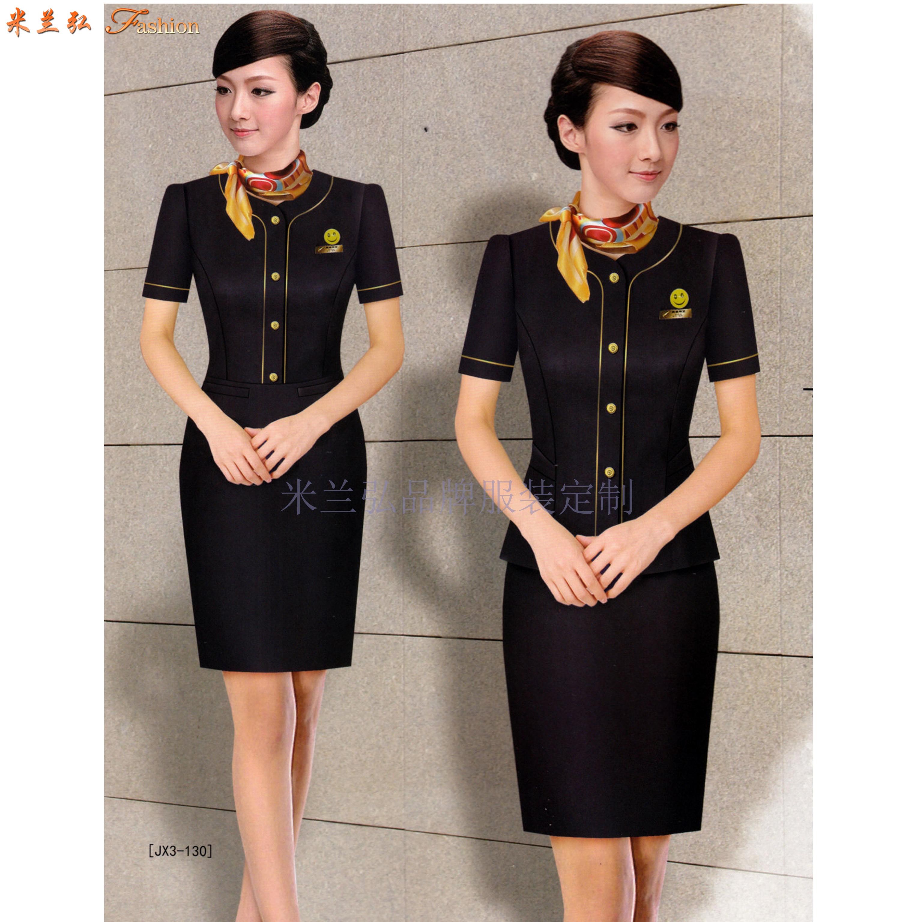 「空姐服」銀川量體定做航空公司空姐服-米蘭弘服裝-3
