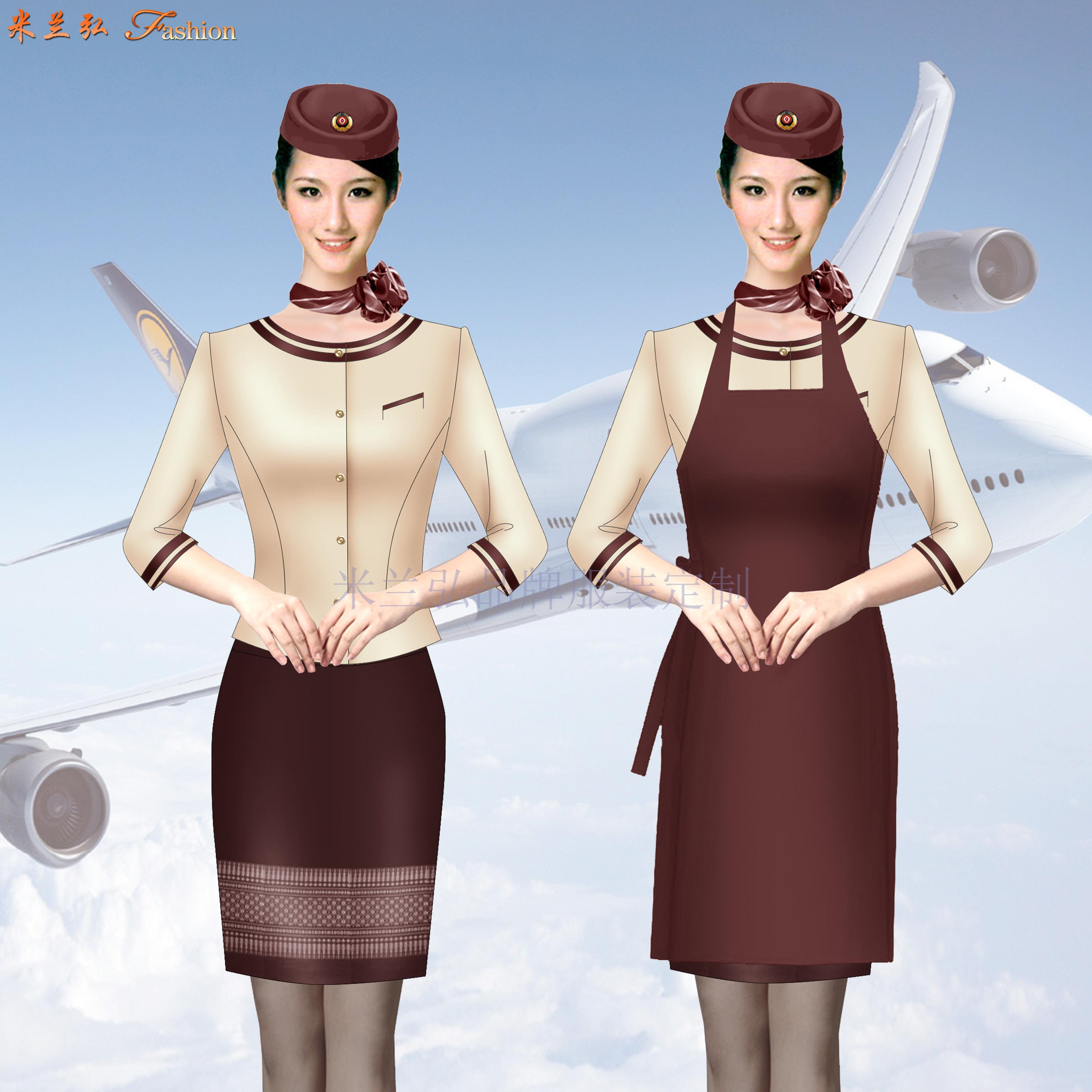 「寧夏空姐服」吳忠市量體定做航空公司空姐服-米蘭弘服裝-2