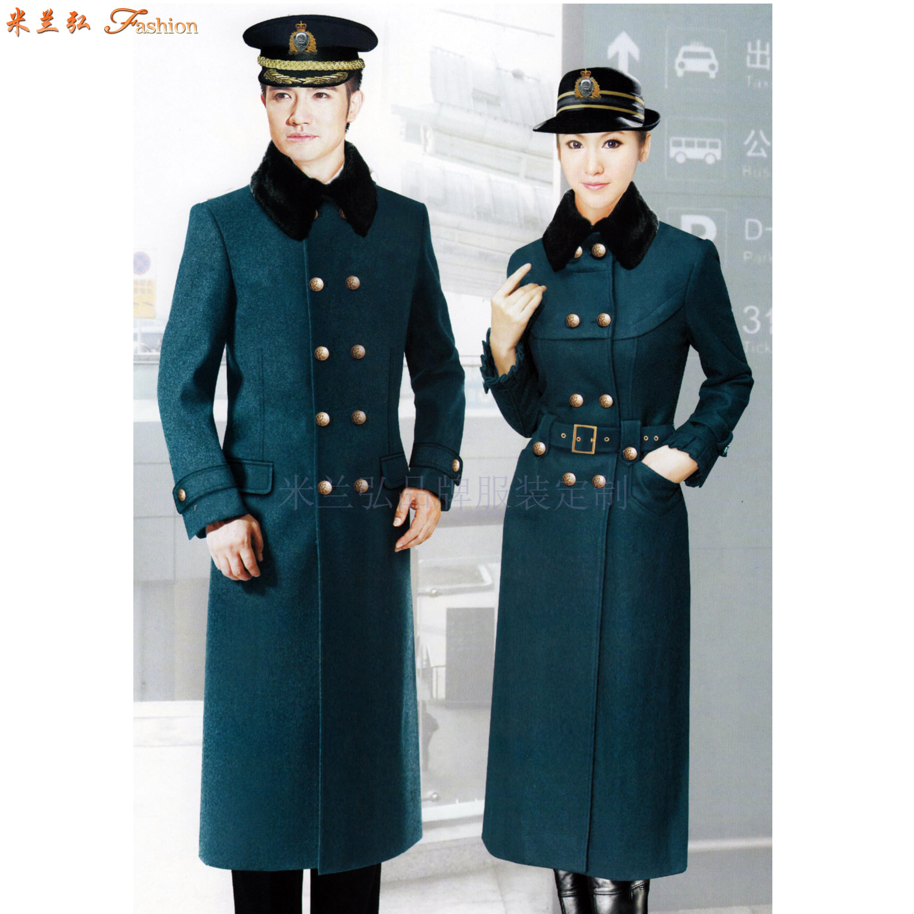 「高铁大衣」量体定做高铁乘务员男女保暖羊毛大衣-米兰弘服装-2