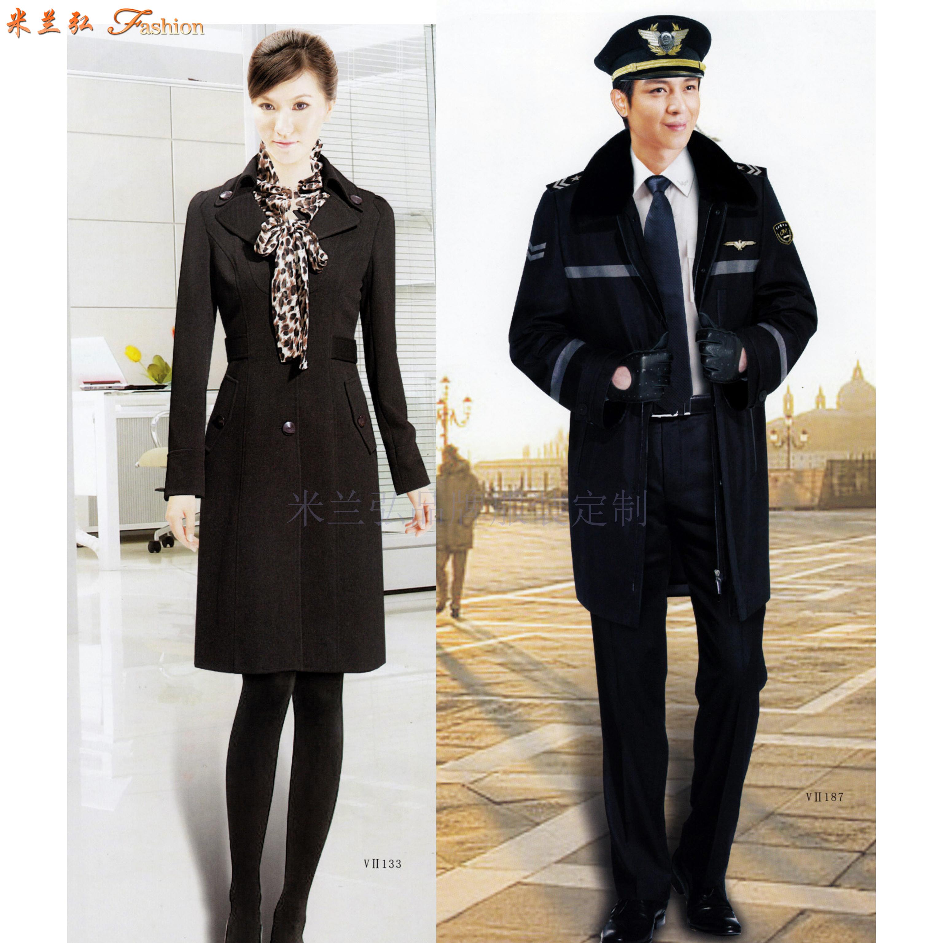 「高铁大衣」量体定做高铁乘务员男女保暖羊毛大衣-米兰弘服装-3