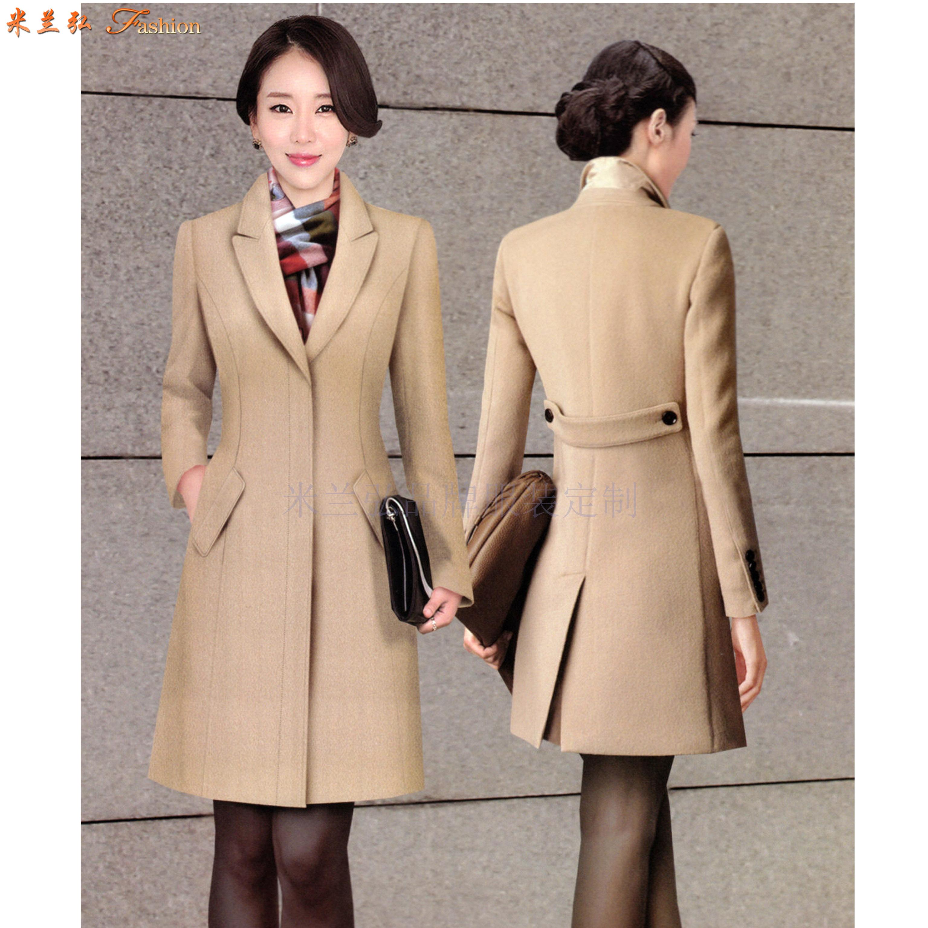 「大衣定做」量身訂制雙面呢羊毛中長款大衣-米蘭弘服裝-4