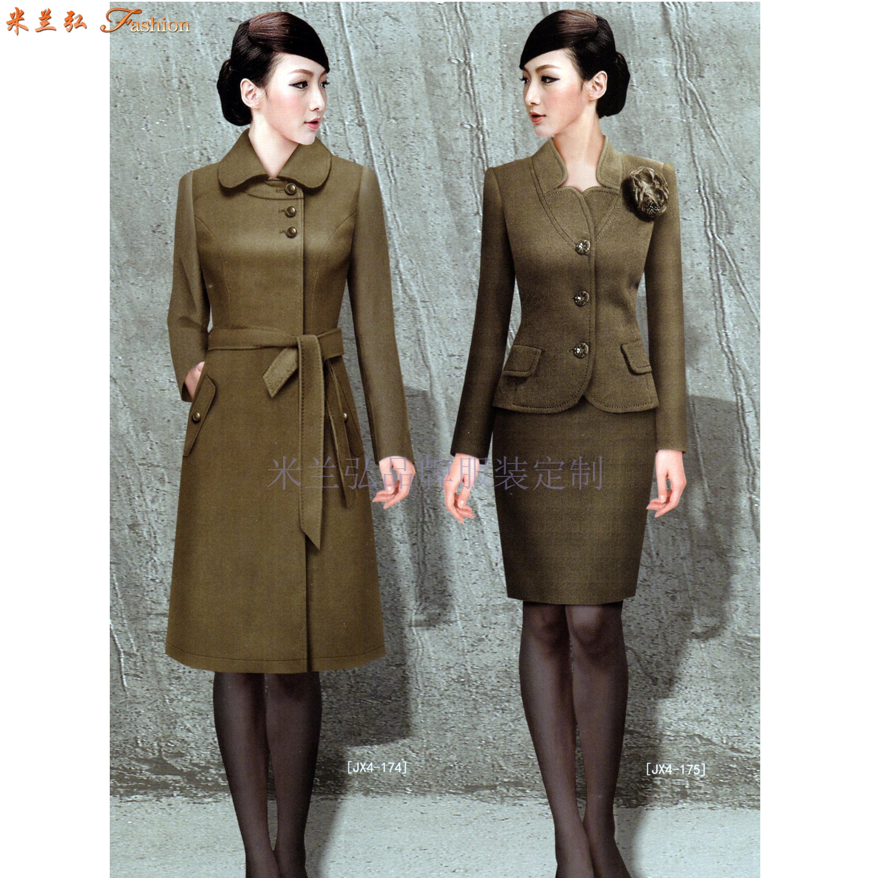 「大衣定做」量身訂制雙面呢羊毛中長款大衣-米蘭弘服裝-2