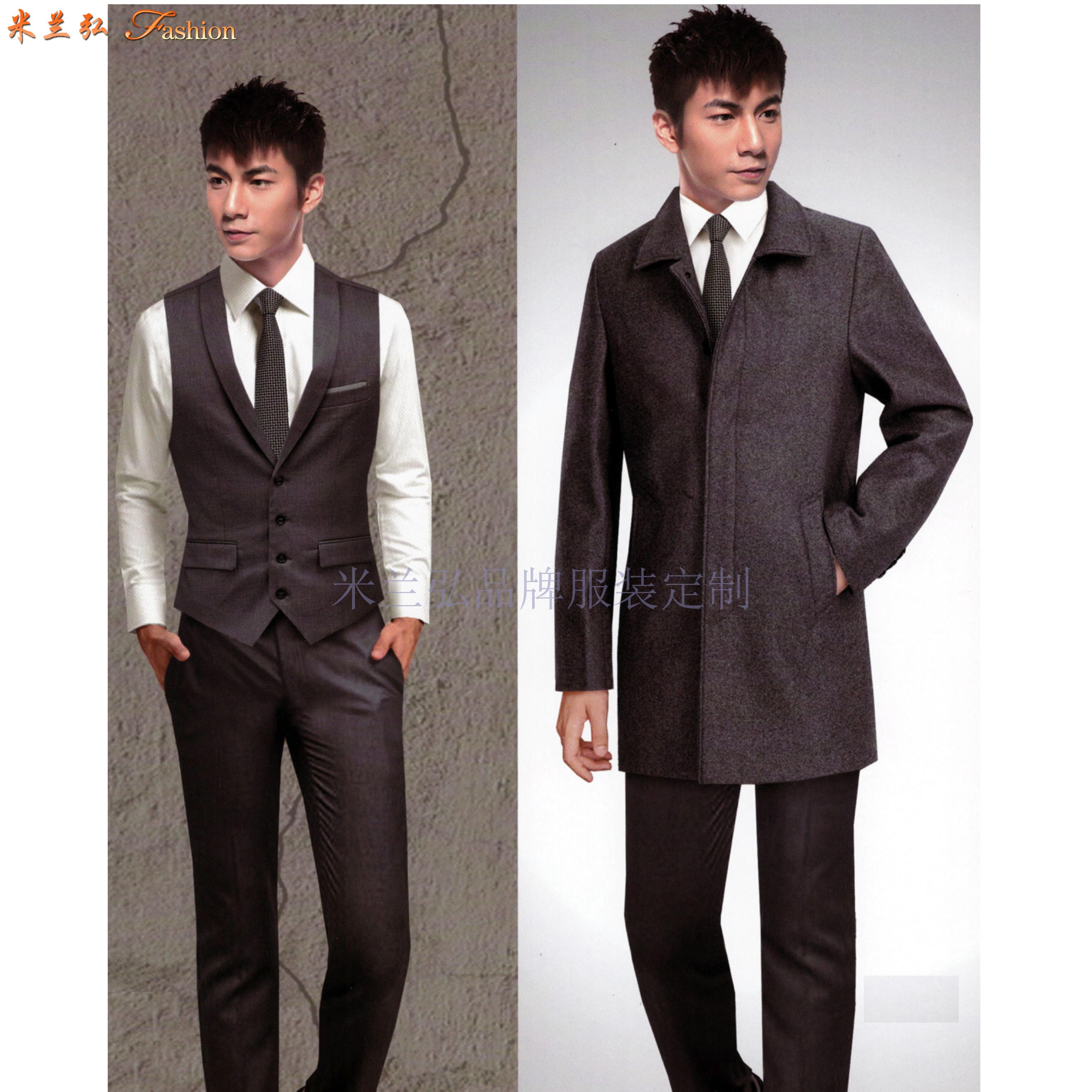 「大衣定做」量身訂制雙面呢羊毛中長款大衣-米蘭弘服裝-3