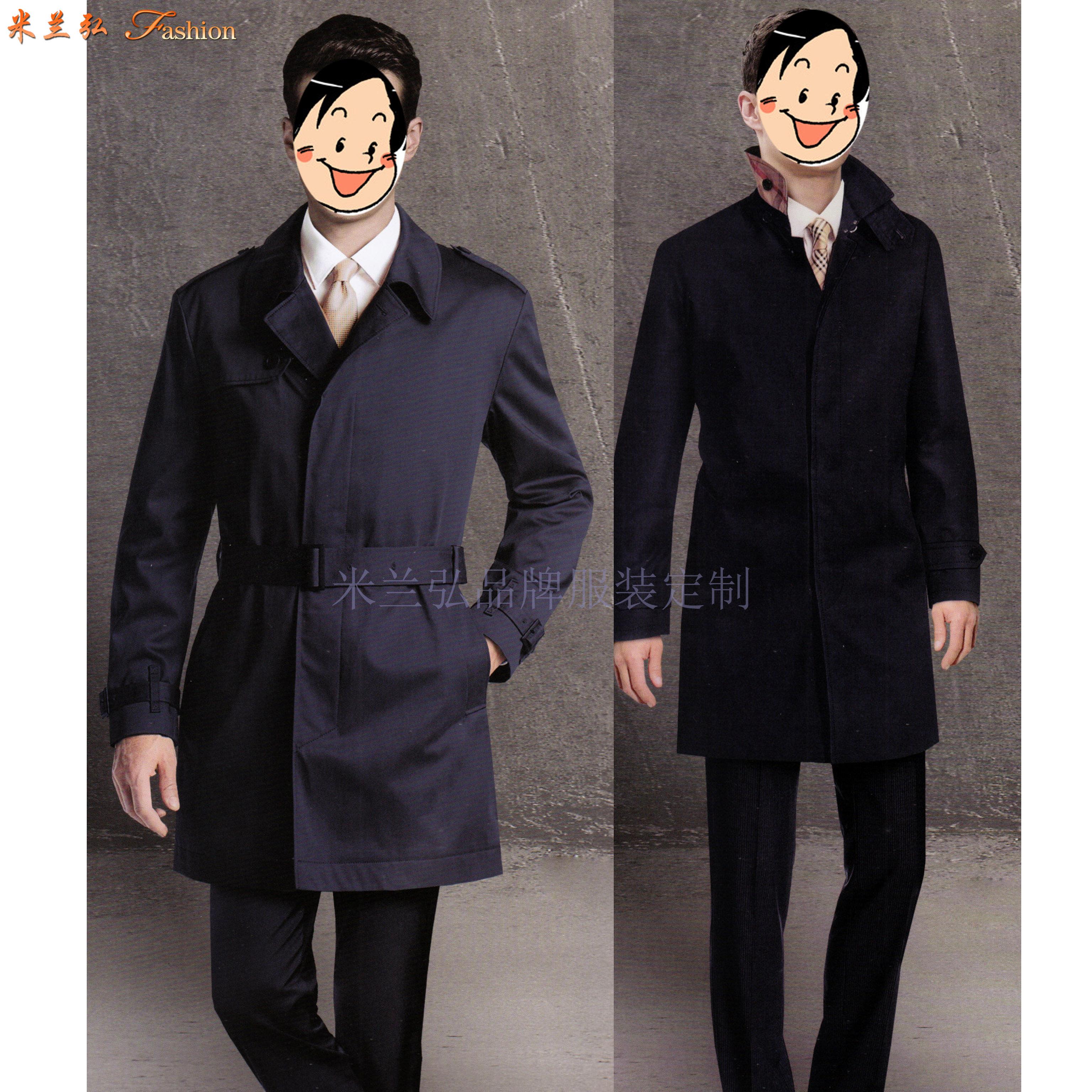 「大衣定做」量身訂制雙面呢羊毛中長款大衣-米蘭弘服裝-1