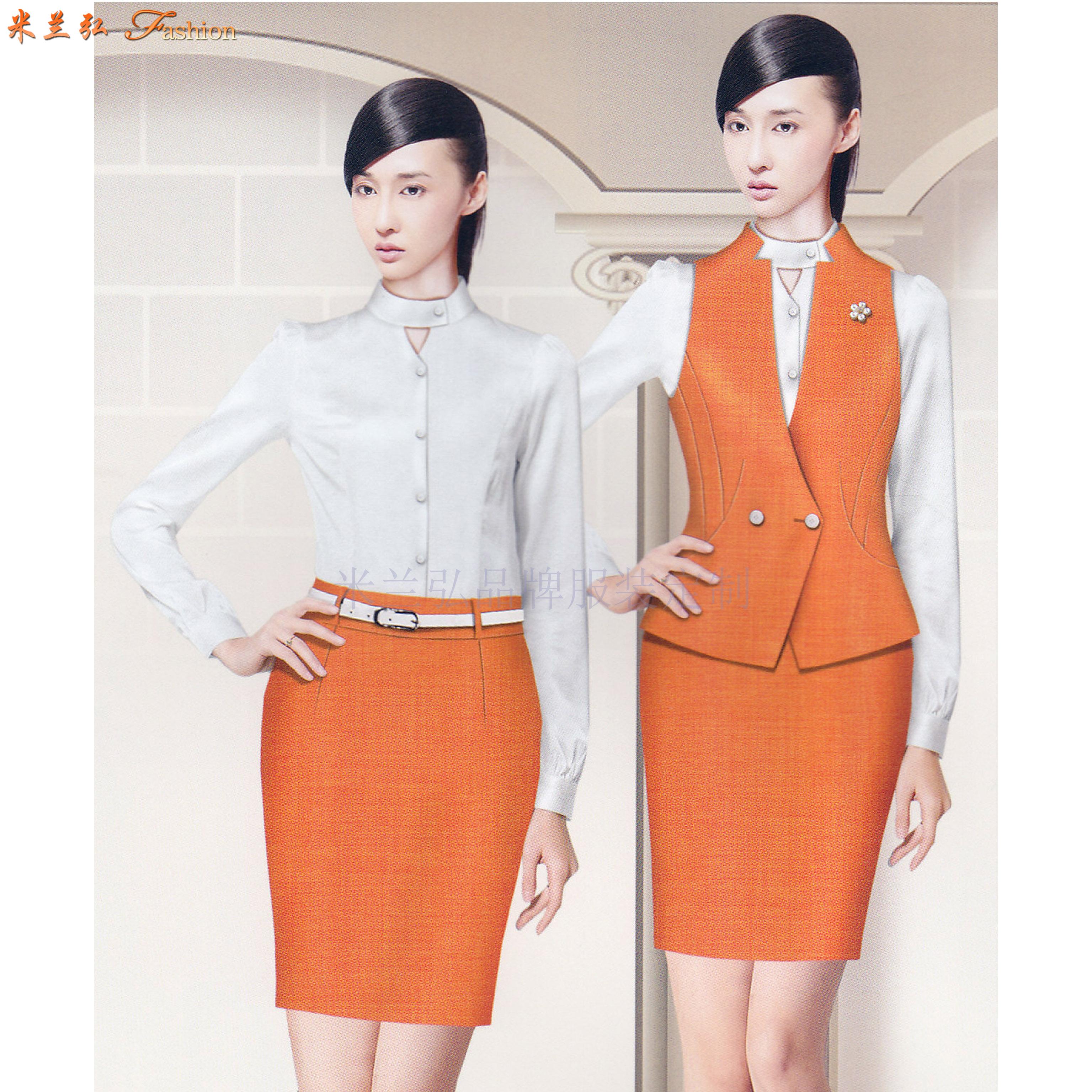 「地鐵制服」專業定做式樣時髦地鐵工作制服套裝-米蘭弘服裝-4