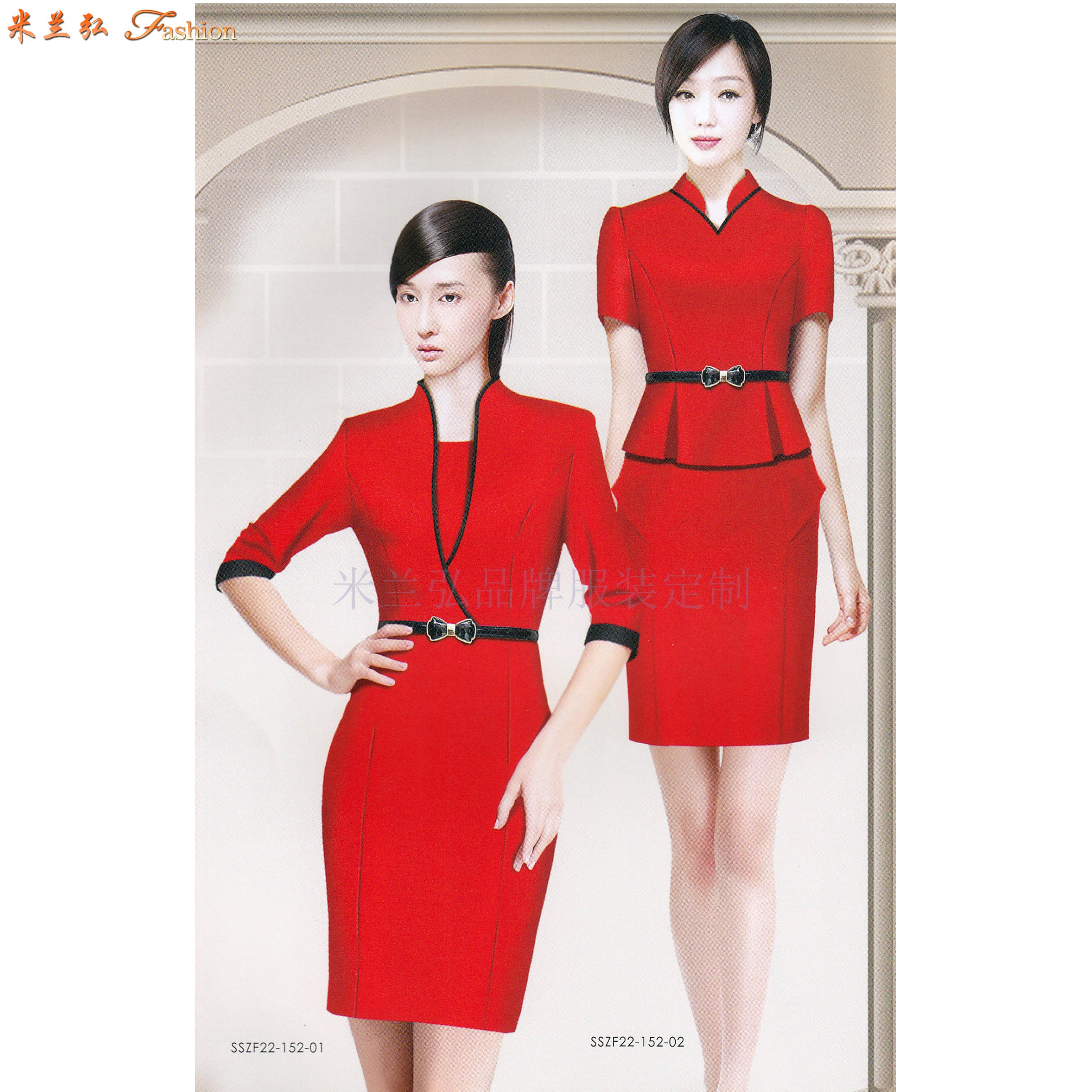 「地鐵制服」專業定做式樣時髦地鐵工作制服套裝-米蘭弘服裝-5
