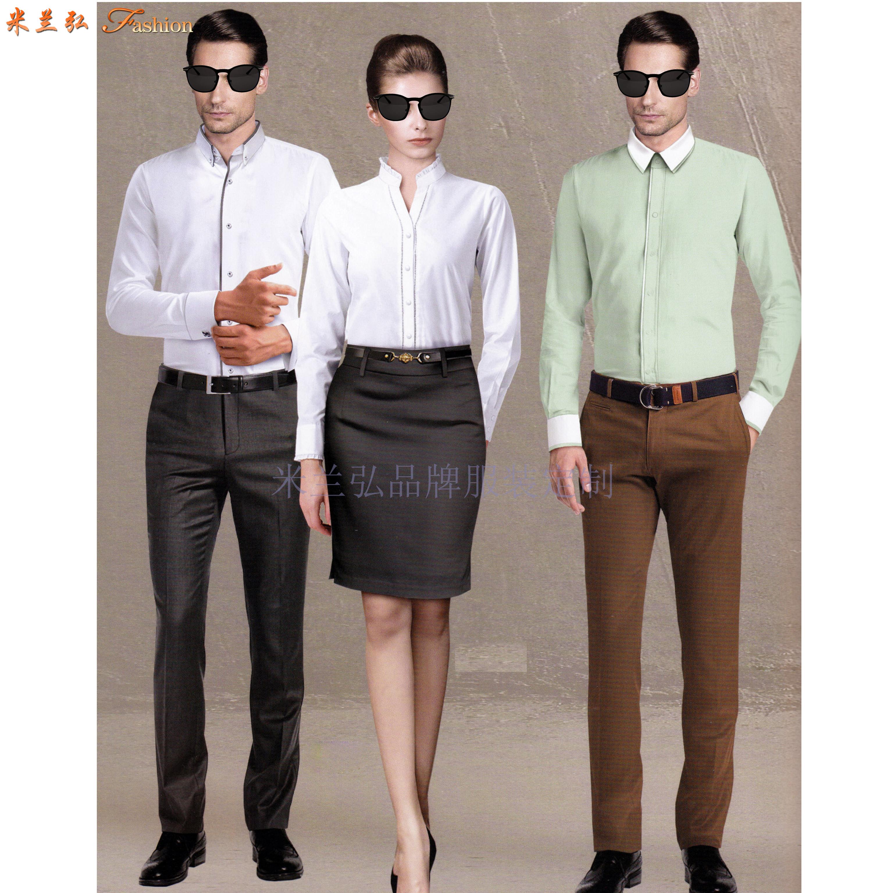 「白襯衫」廠家直供夏天白色男女通勤天絲棉襯衫-米蘭弘服裝-1