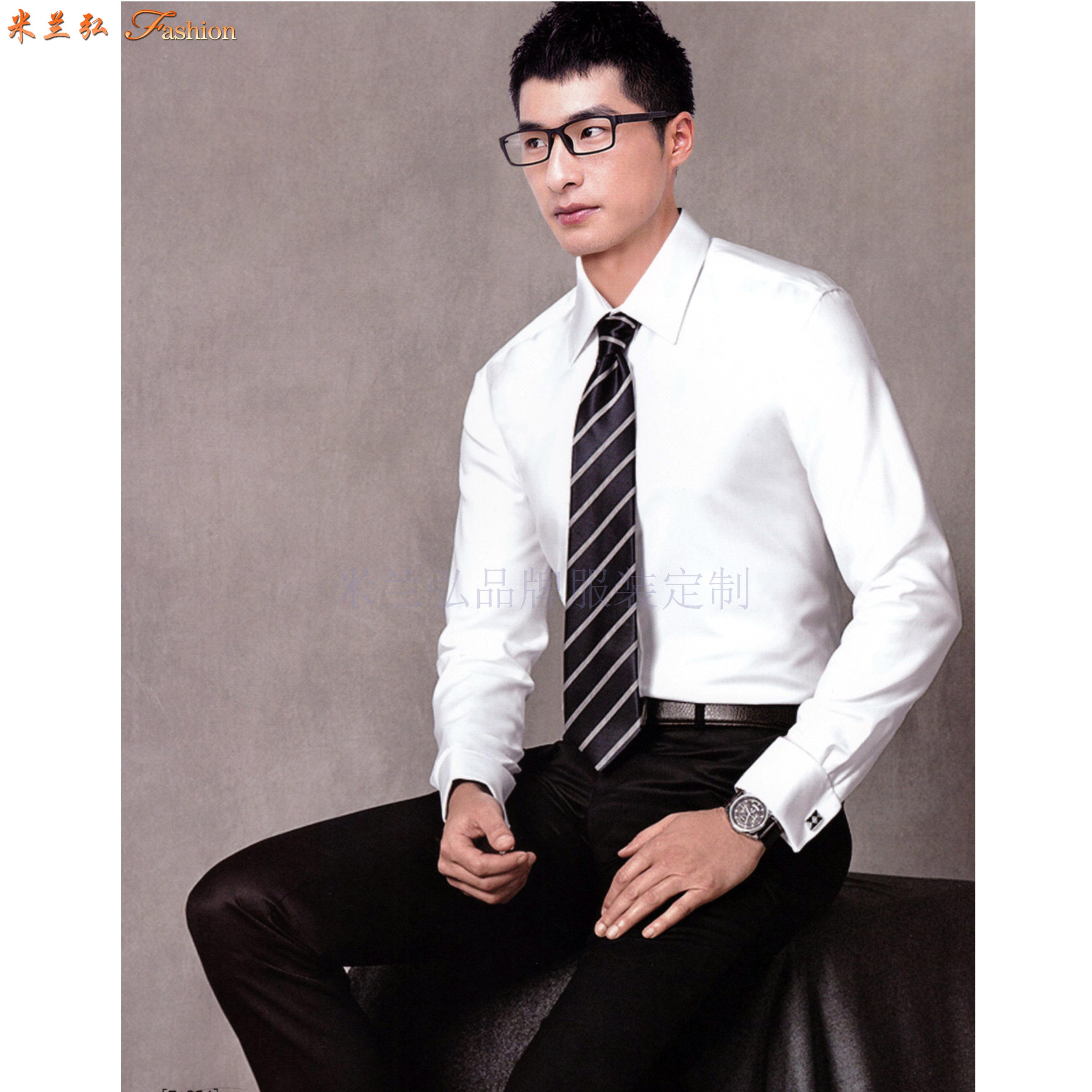 「白襯衫」廠家直供夏天白色男女通勤天絲棉襯衫-米蘭弘服裝-3