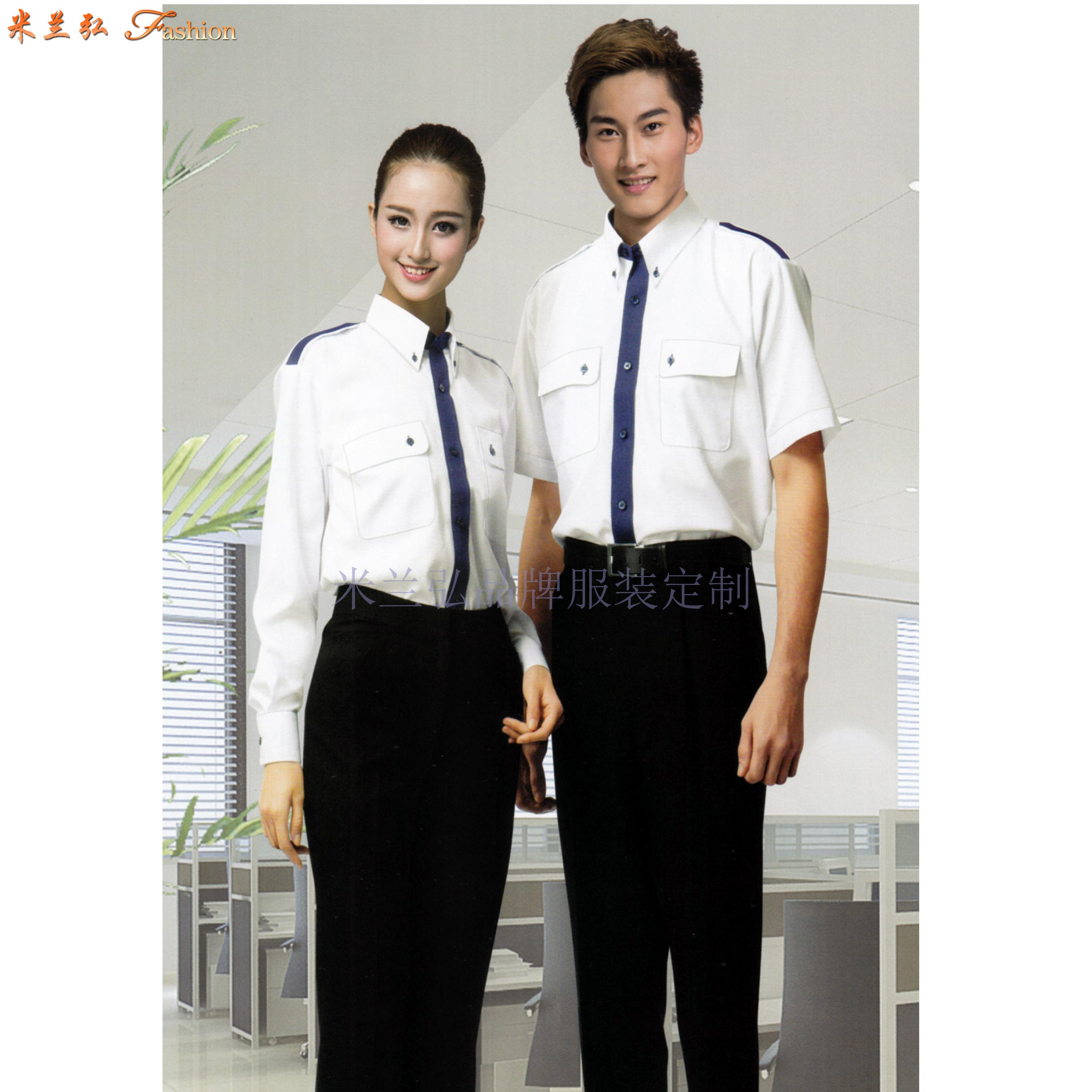 「白襯衫」廠家直供夏天白色男女通勤天絲棉襯衫-米蘭弘服裝-4