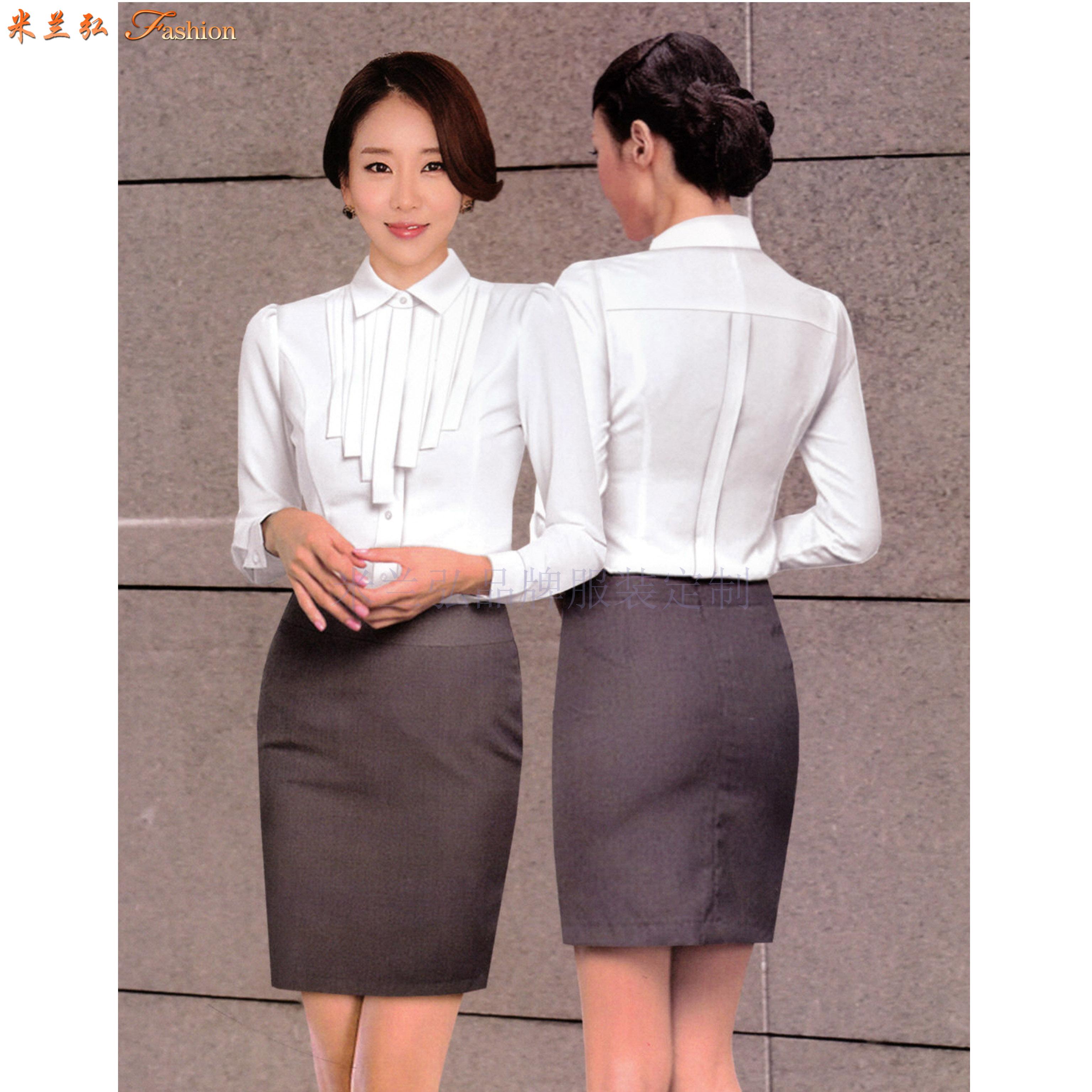 「白襯衫」廠家直供夏天白色男女通勤天絲棉襯衫-米蘭弘服裝-2