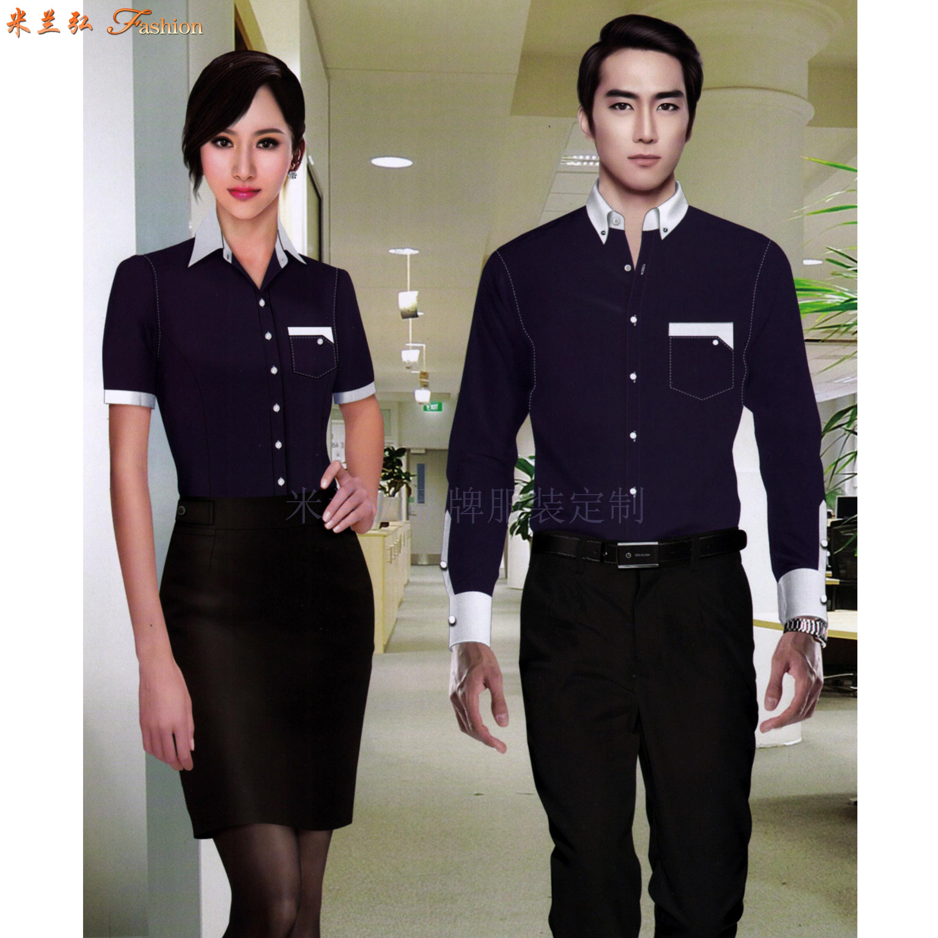 「襯衫搭配」廠家直銷男士女士工作服襯衫搭配款式-米蘭弘服裝-4