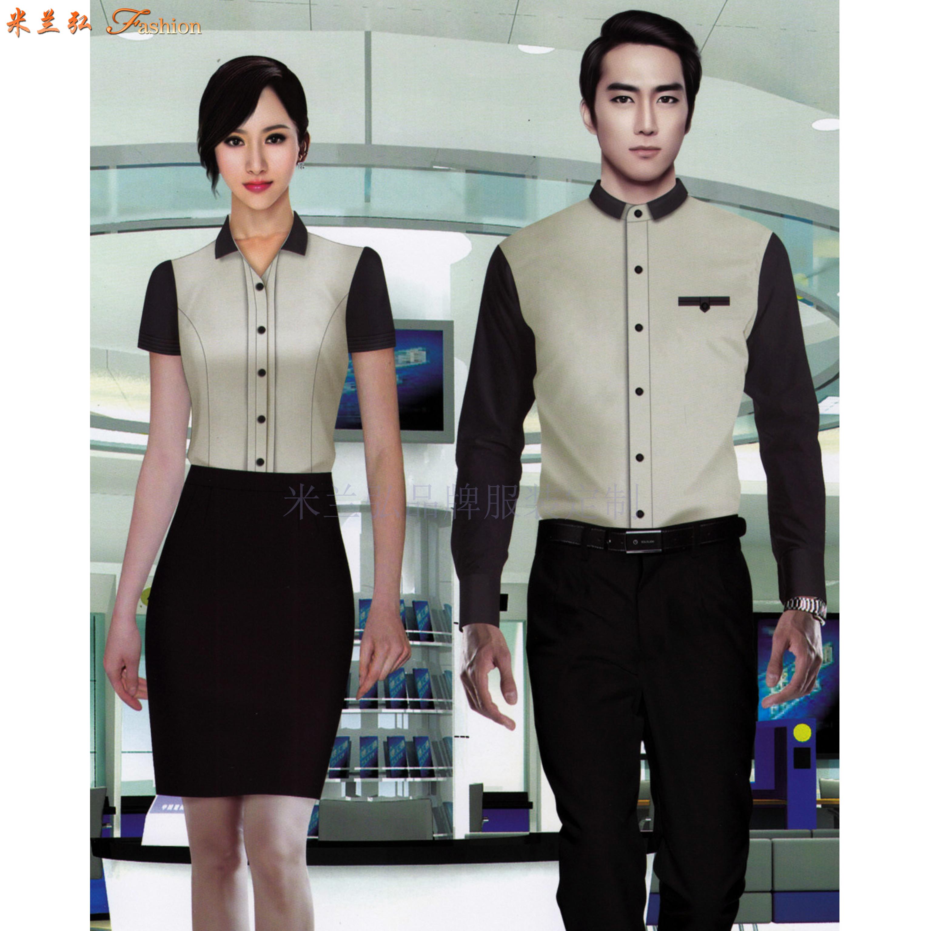 「襯衫搭配」廠家直銷男士女士工作服襯衫搭配款式-米蘭弘服裝-5