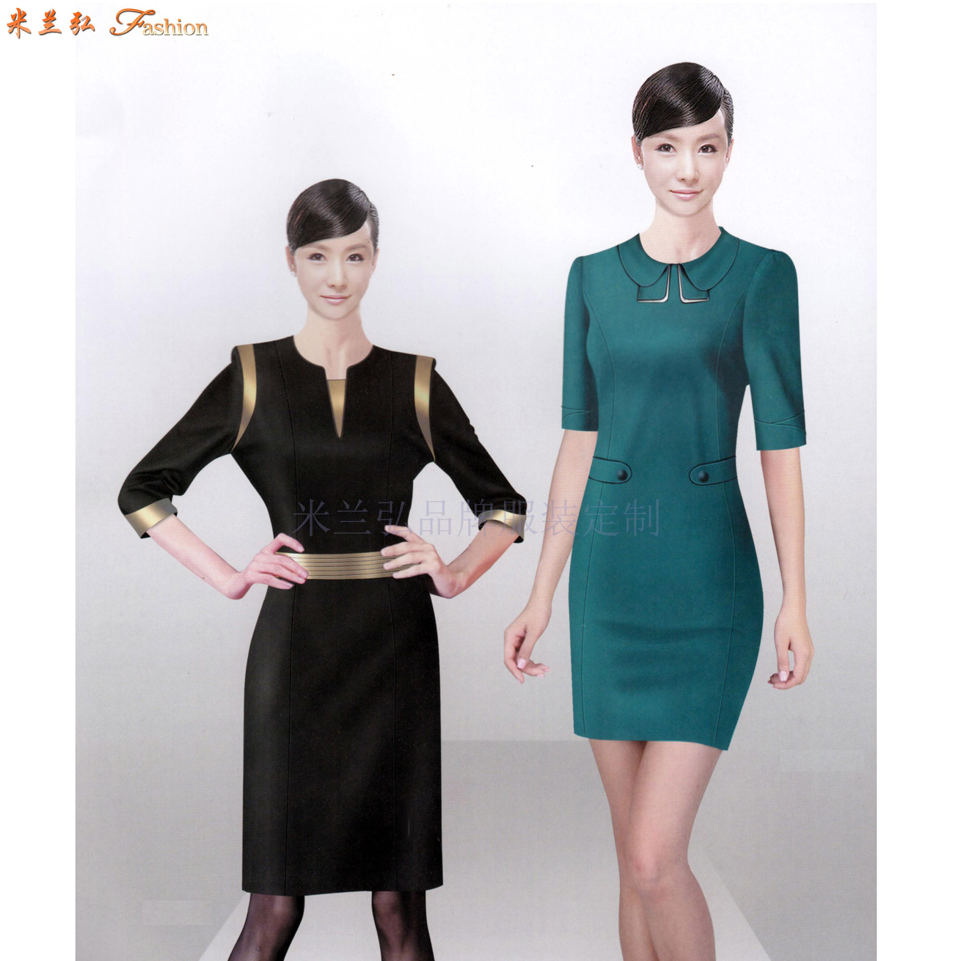 「職業裝連衣裙定制」「職業裝連衣裙訂制」-米蘭弘服裝-5