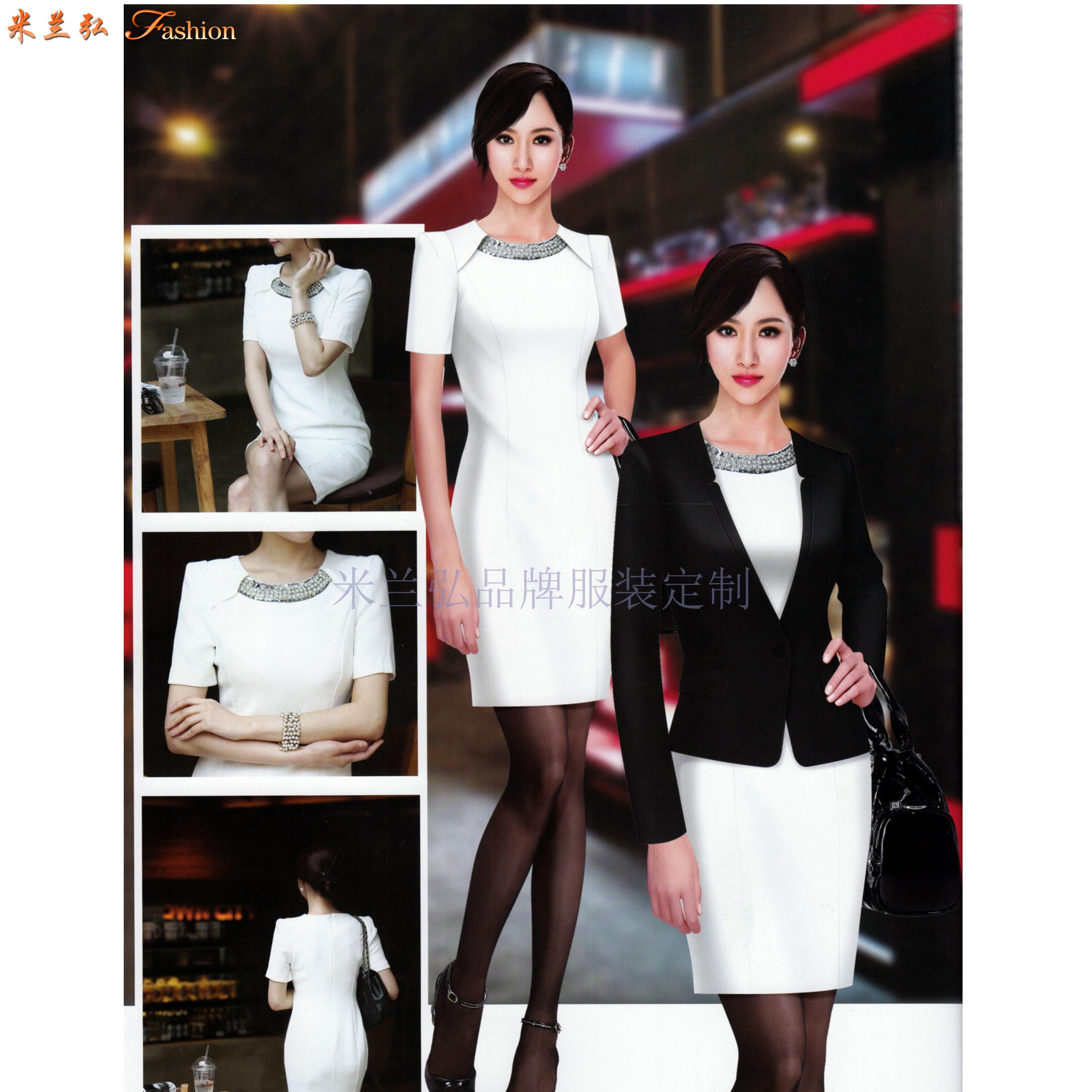 「河北職業裝」廊坊市量身訂做時尚職業裝廠家-米蘭弘服裝-1