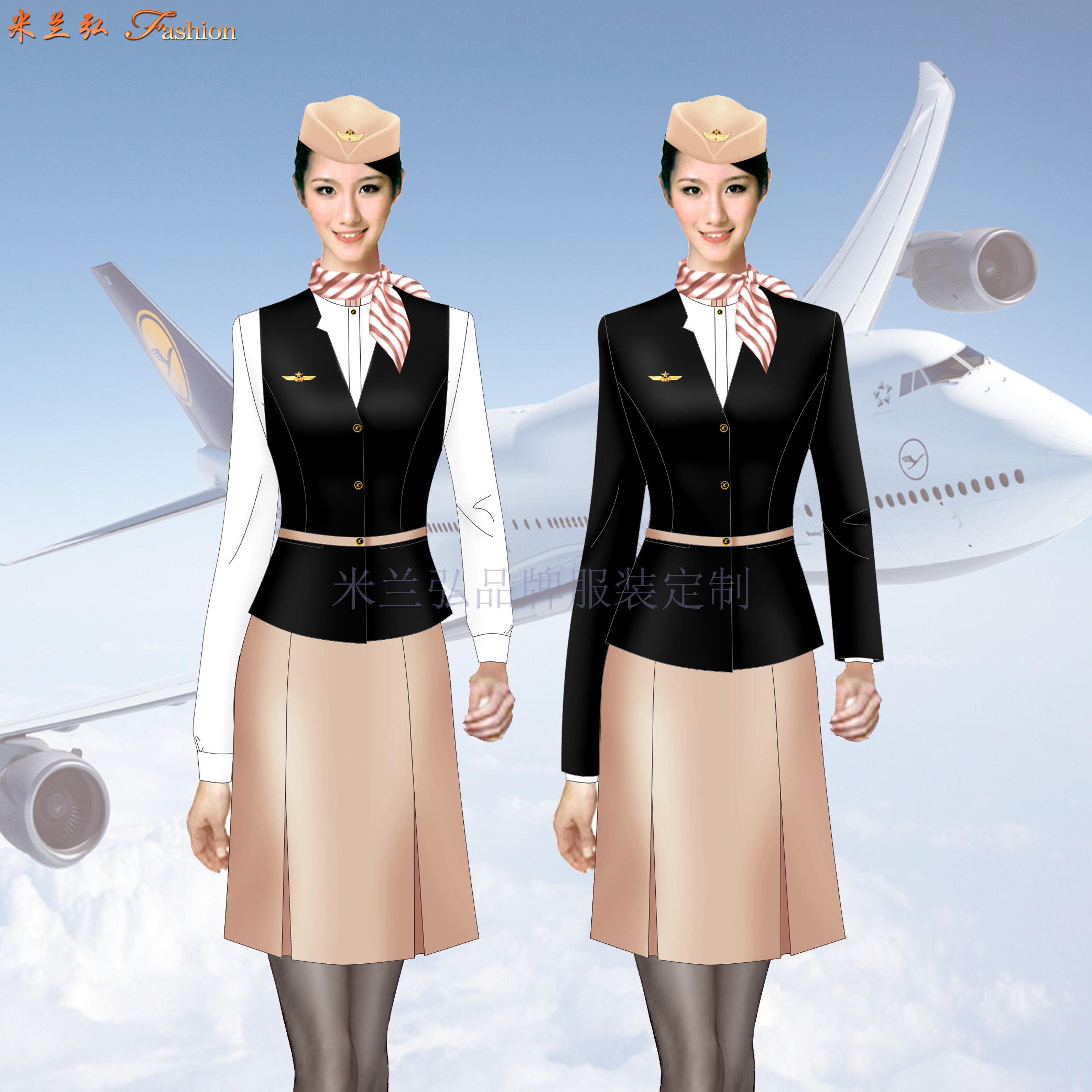 「河北空姐服」滄州市量體定做航空公司空姐服-米蘭弘服裝-2
