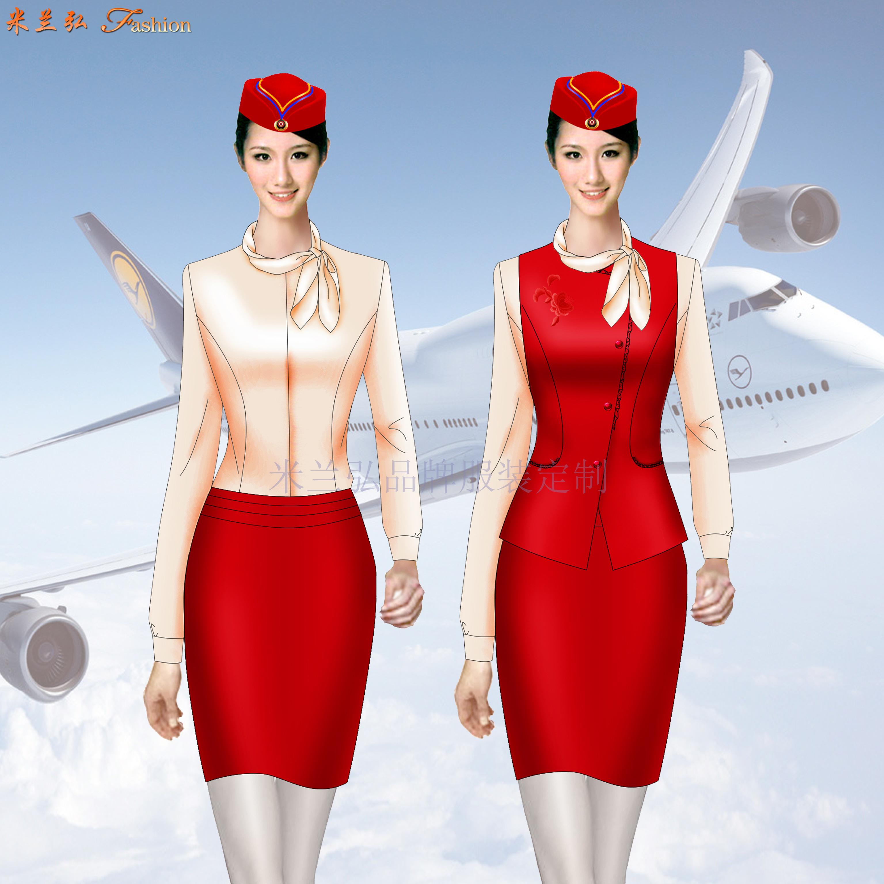 「河北空姐服」滄州市量體定做航空公司空姐服-米蘭弘服裝-3