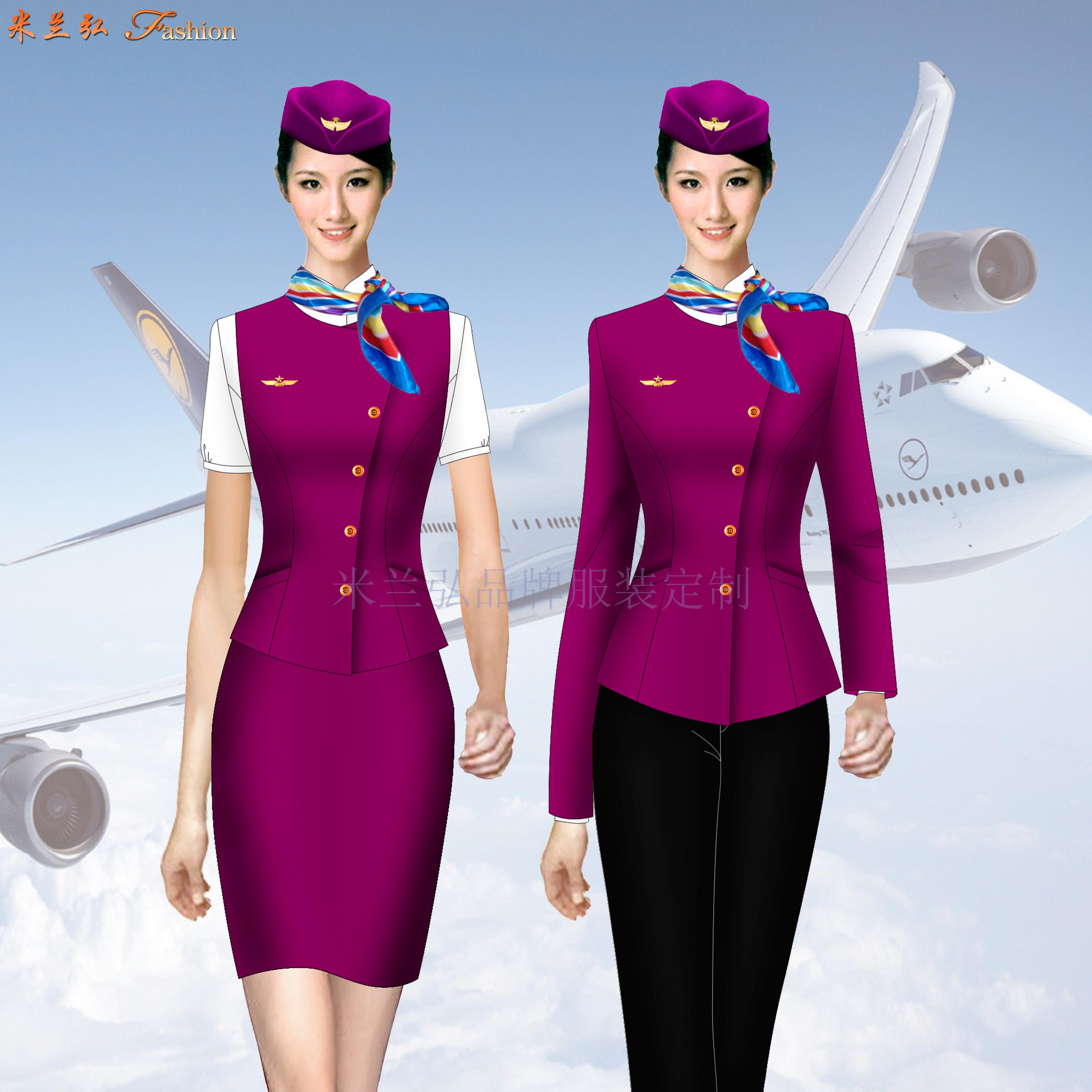 「河北空姐服」滄州市量體定做航空公司空姐服-米蘭弘服裝-5